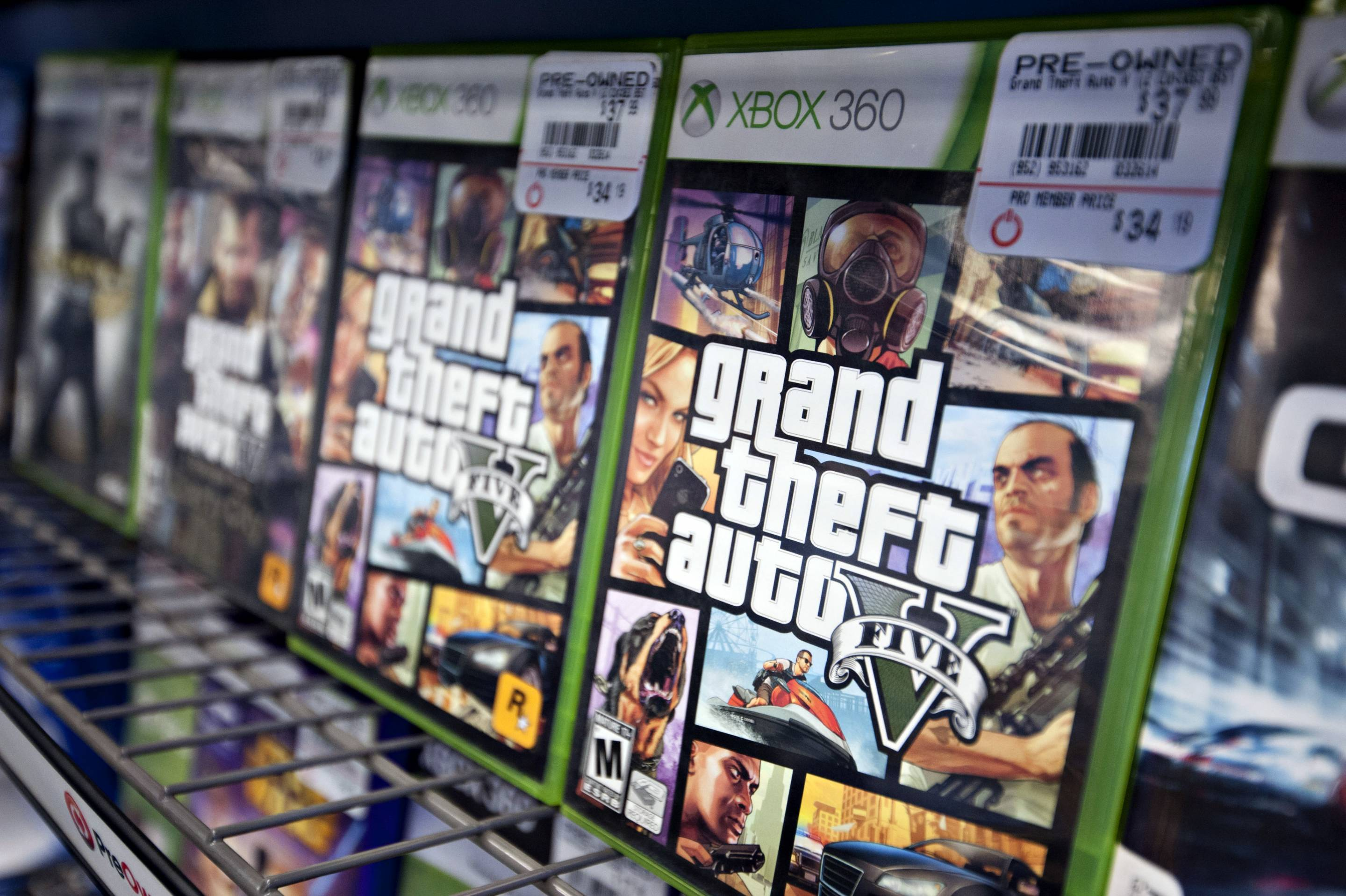 "Take-Two Interactive's ""Grand Theft Auto V."""