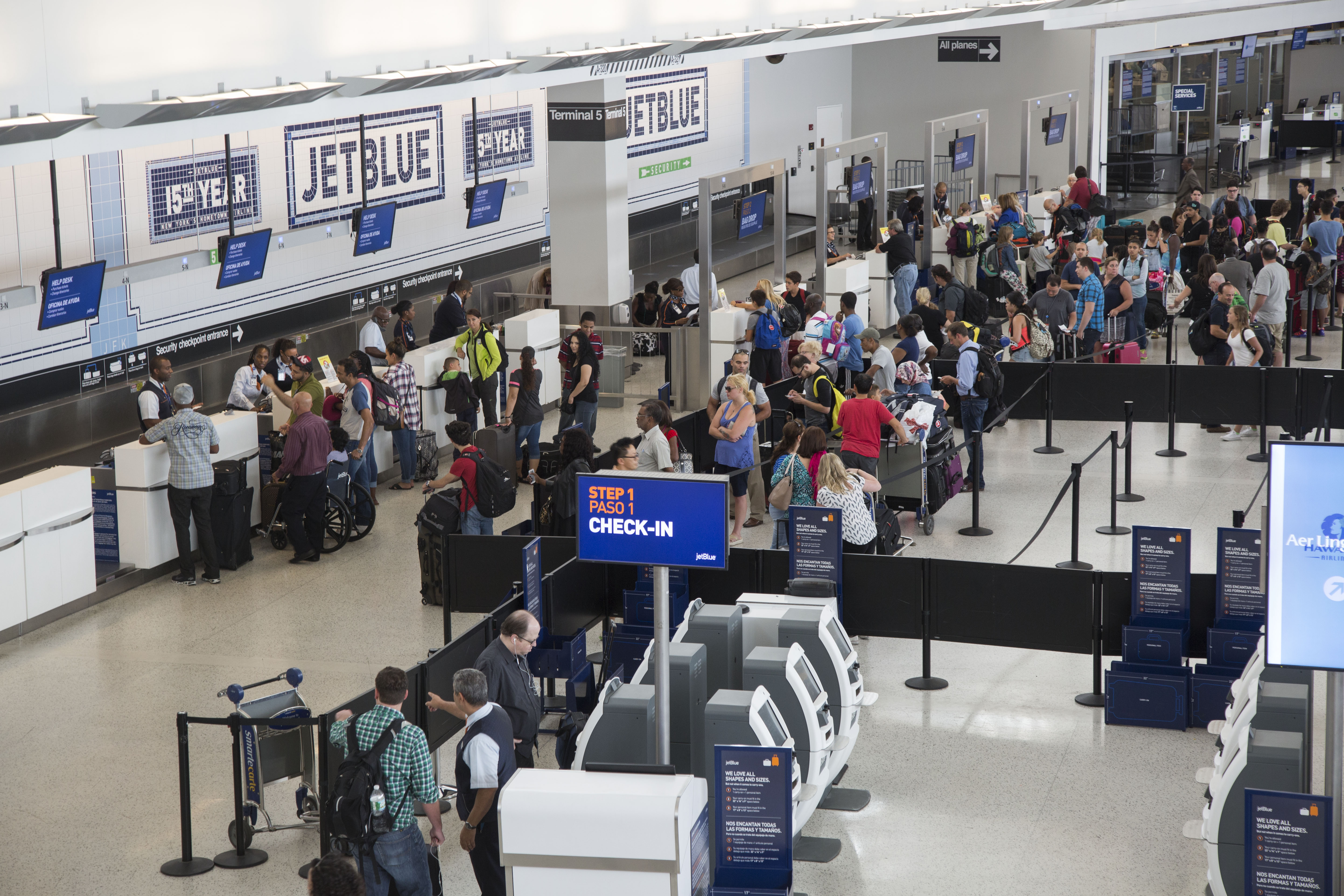 Inside JFK's JetBlue Airways Corp. Terminal