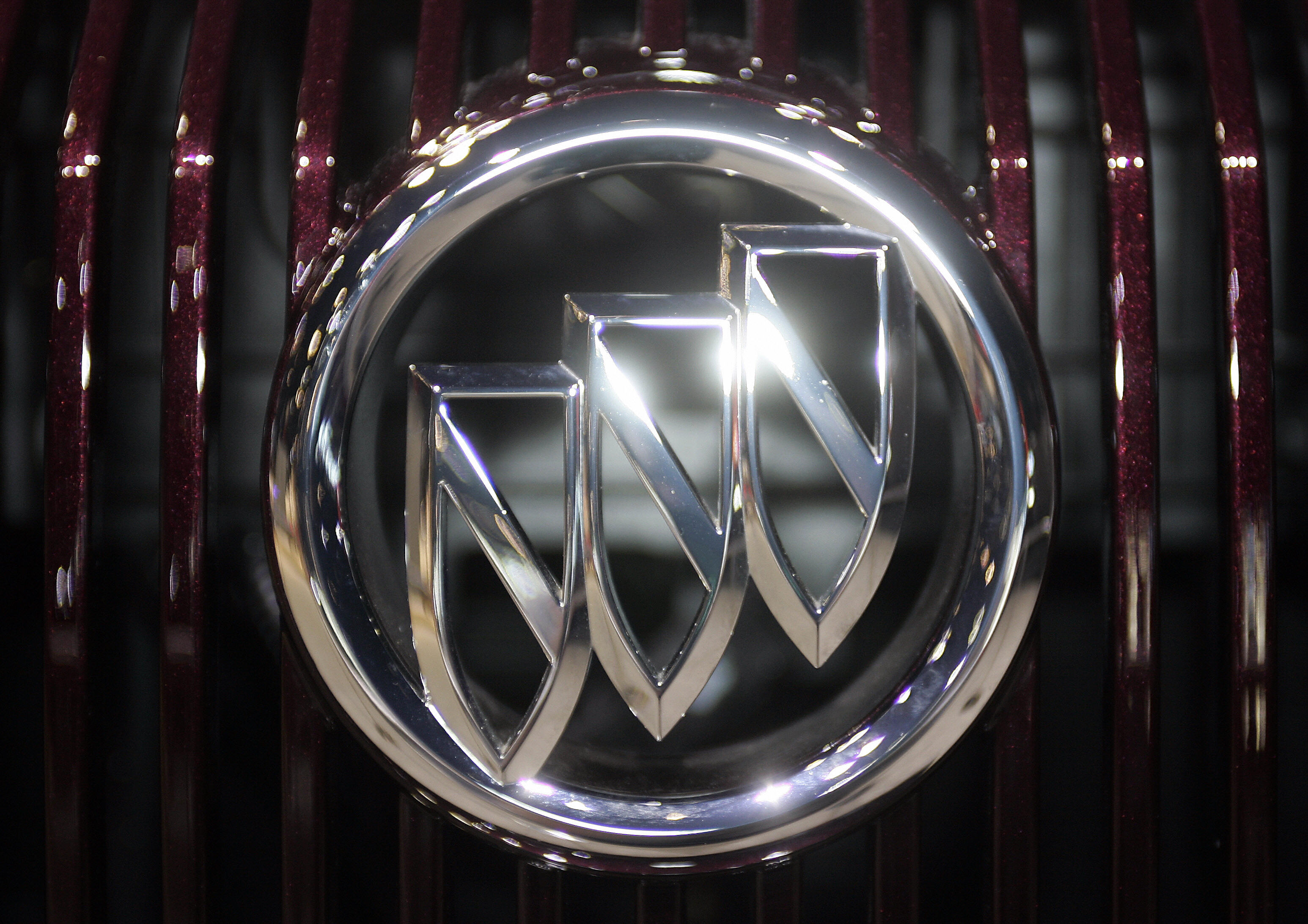The Buick emblem on the grill of a new c