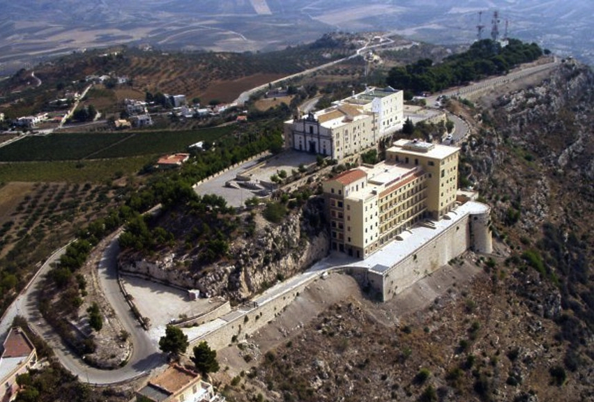 "A view of the ""ghost"" hotel in Sicily. The 61-year-old hotel has had ""grand openings"" but never hosted a guest."