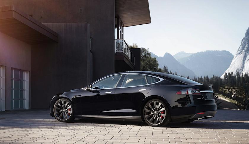 A Tesla Motors Model S sedan.