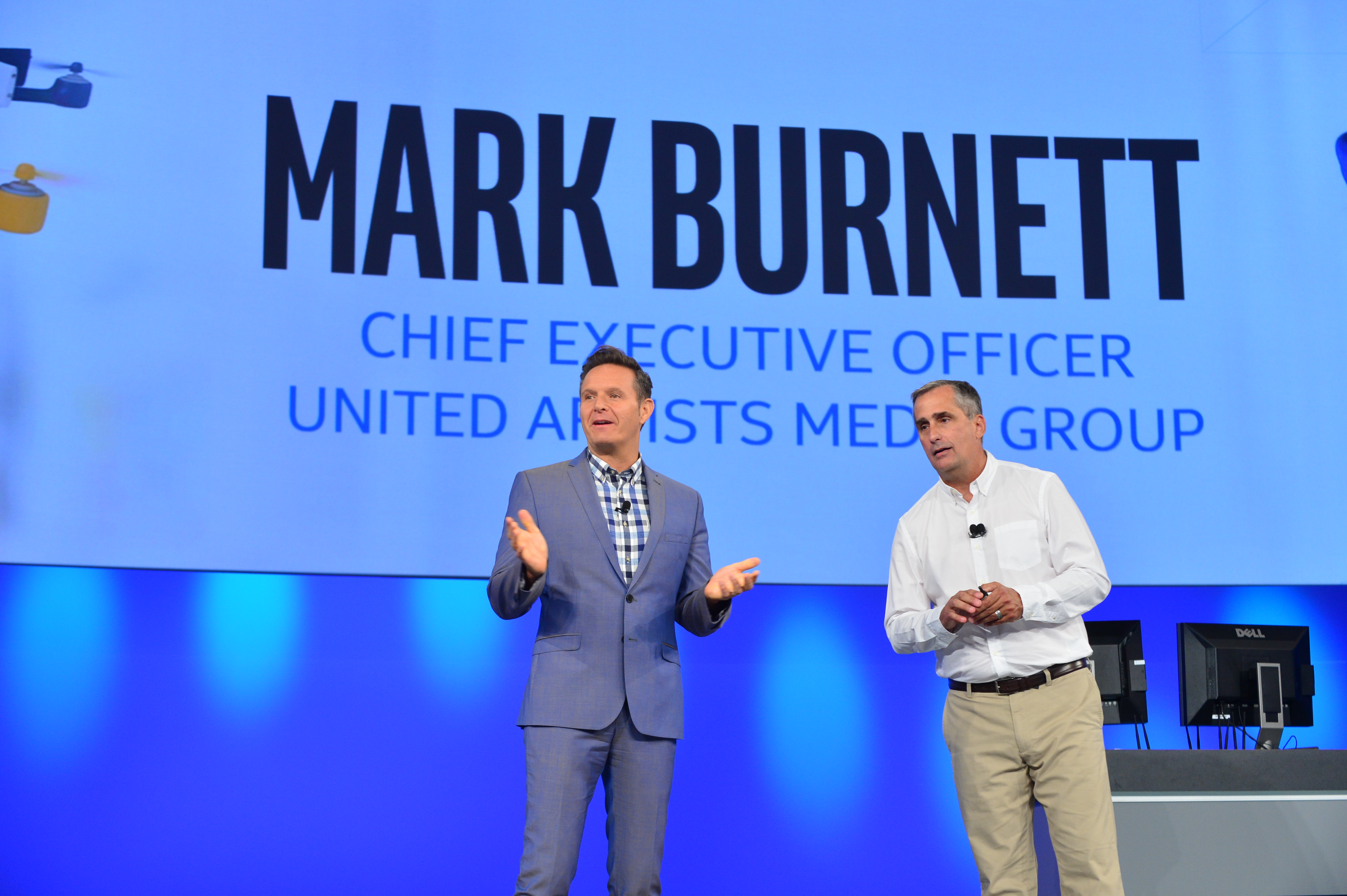 United Artists Media Group CEO Mark Burnett and Intel CEO Brian Krzanich, announced 'America's Greatest Makers,' a new reality competition.