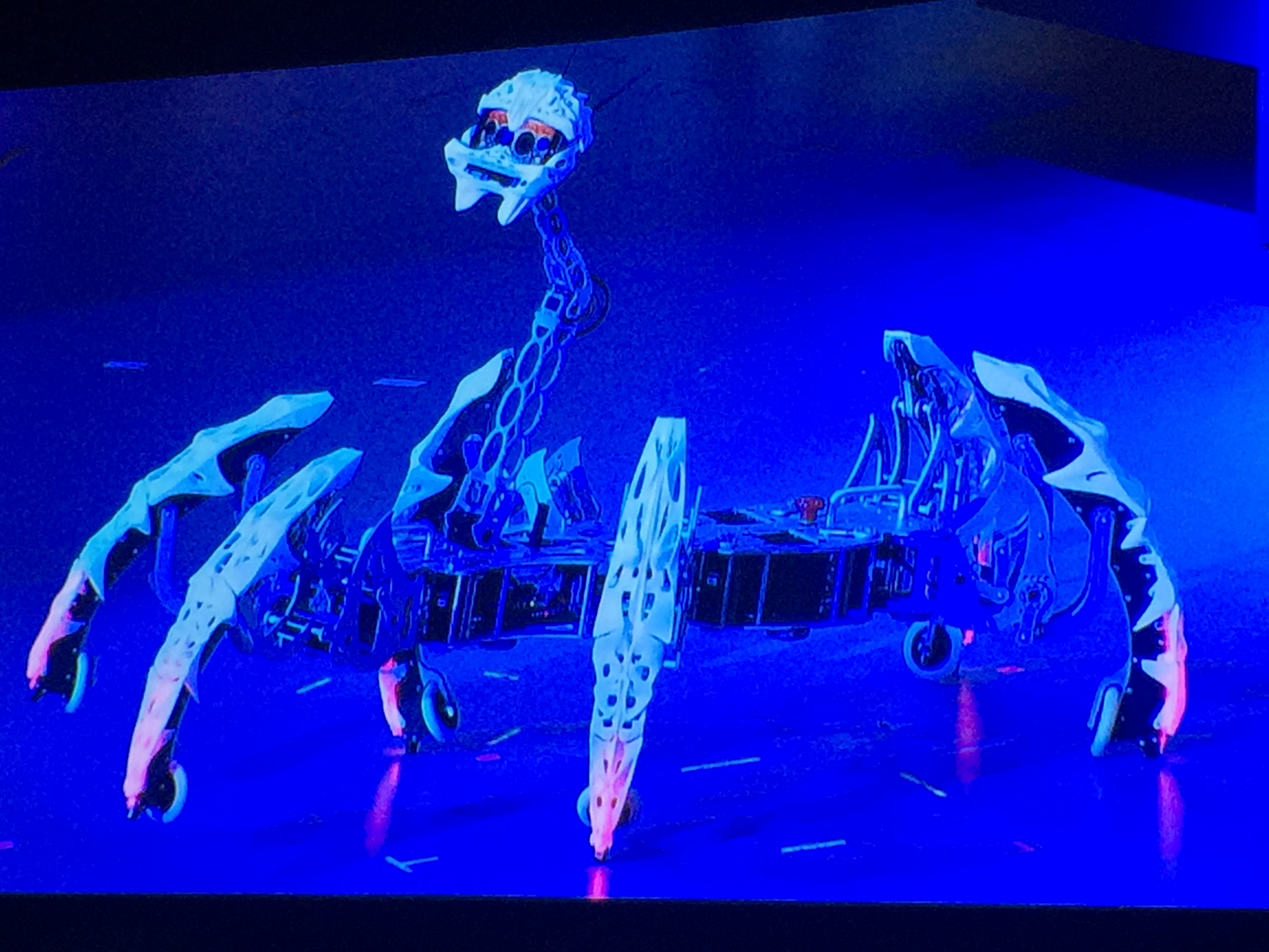 Intel's dancing, robotic spider.