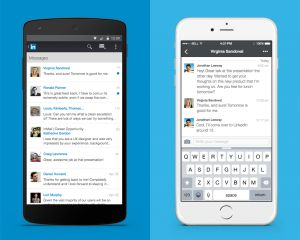 "LinkedIn's revamped ""inbox"" on Android and iOS"