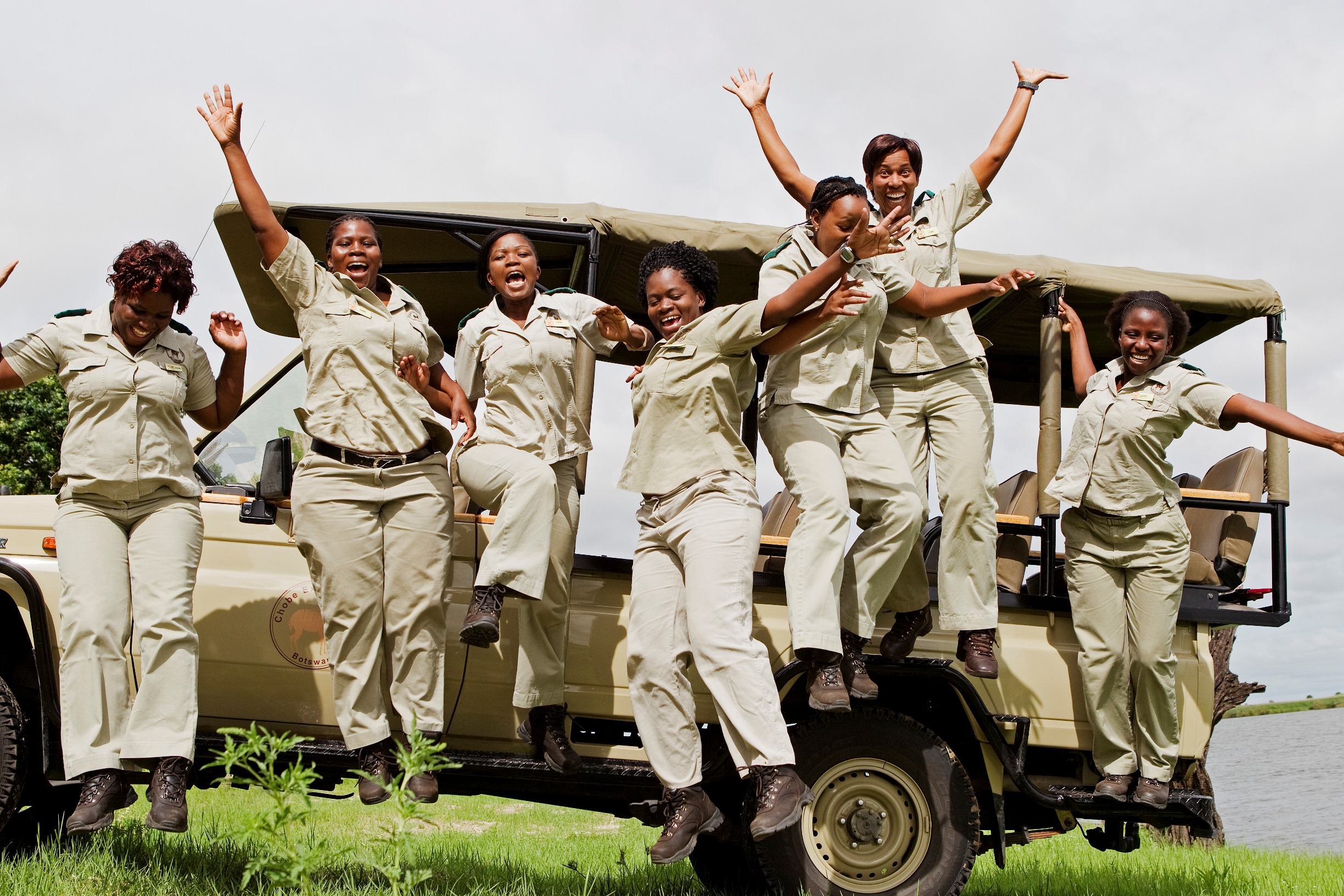 (Left to right) Connie; Chipo; Thuso; Bee; Abel; Lynn; Letty