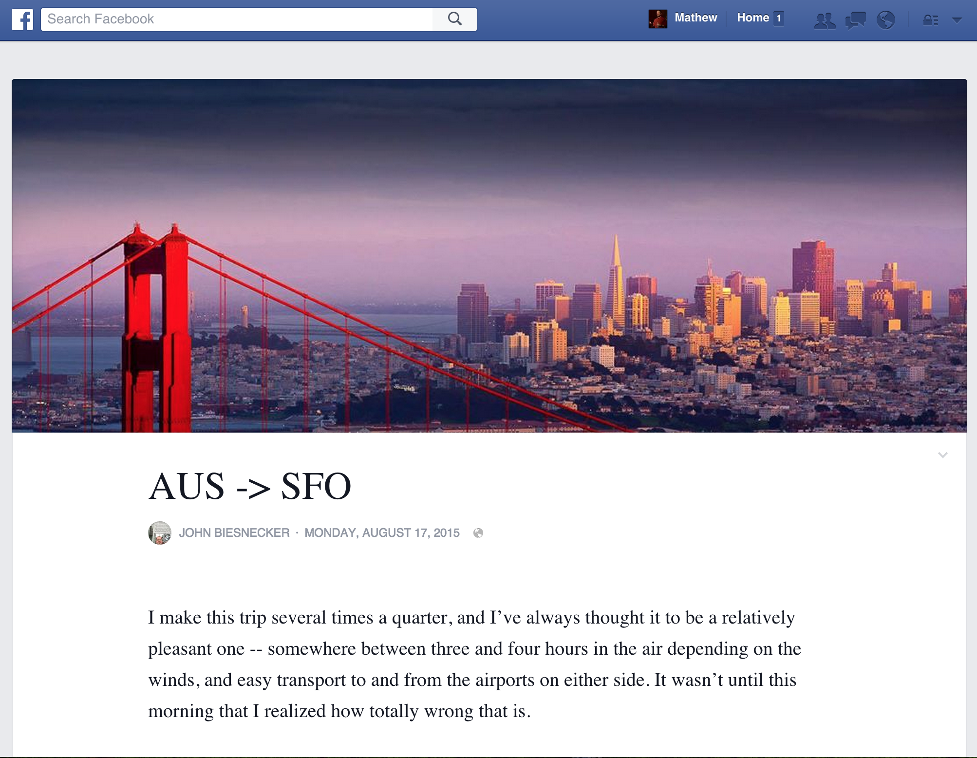 Facebook Notes redesign