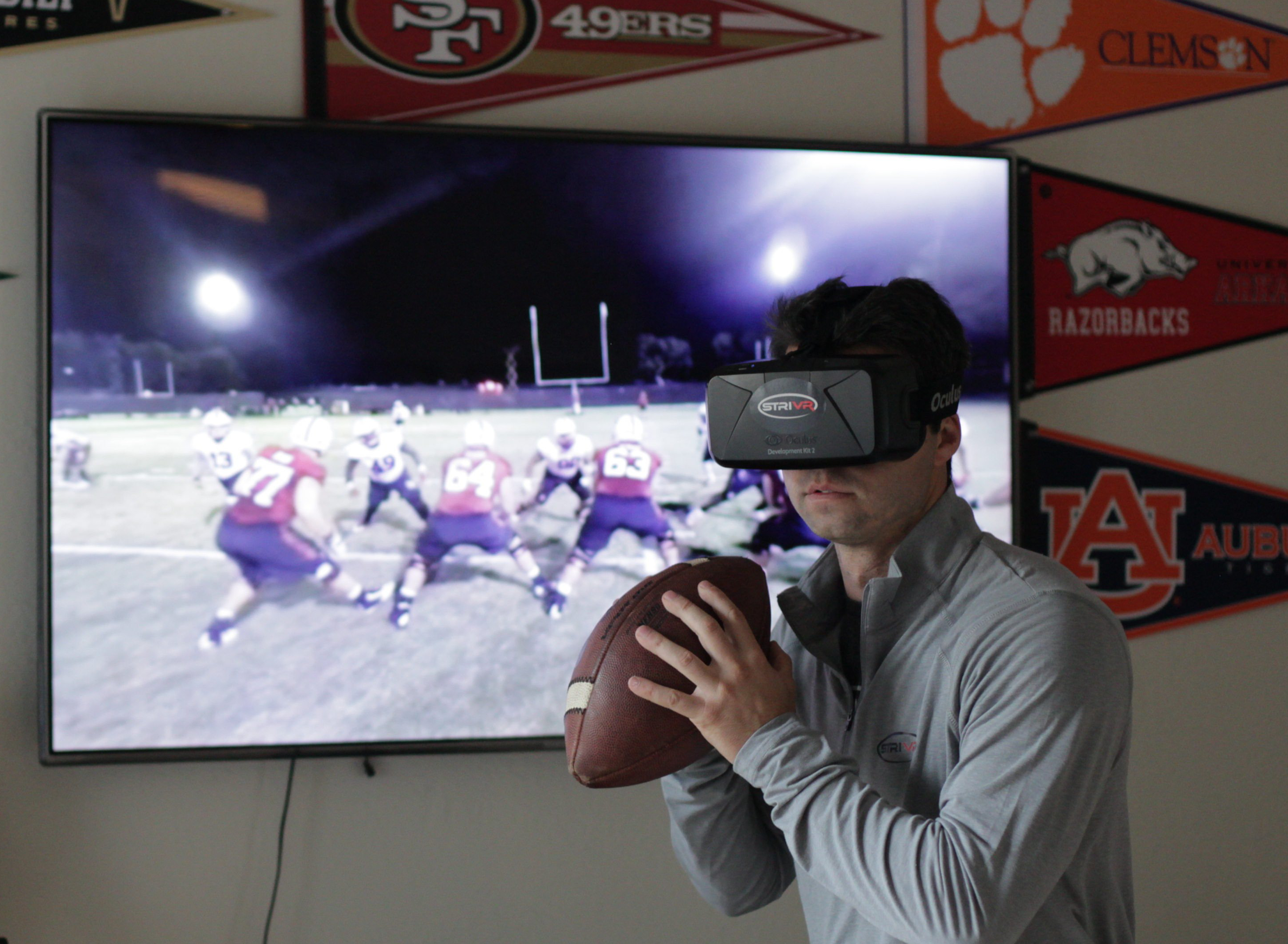 StriVR technology brings every position on the football field to life through 360-degree video