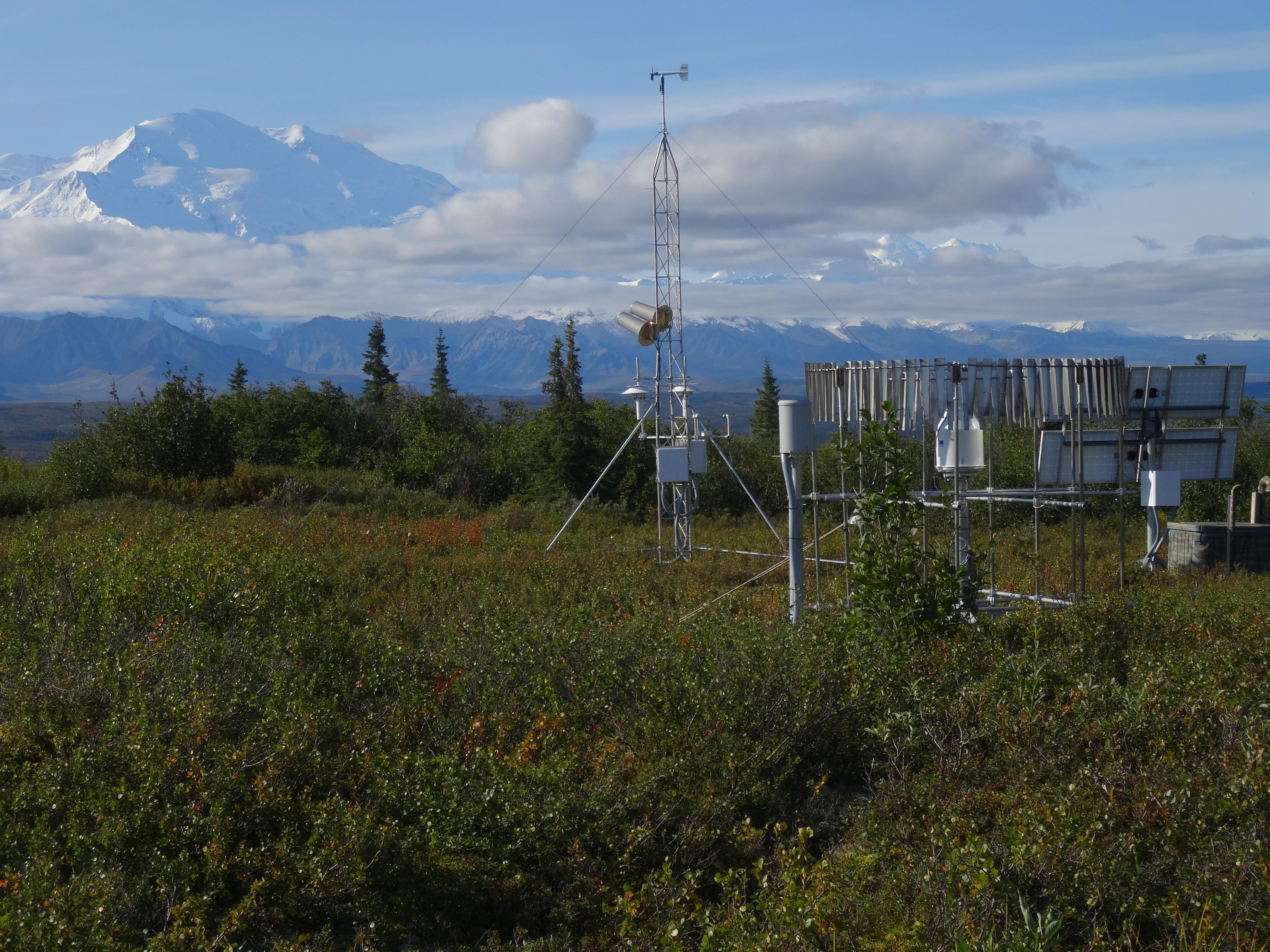 The new environmental monitoring station 27 miles north of Denali mountain in Alaska.