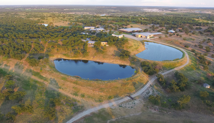 Aerial view of Rocking W Ranch
