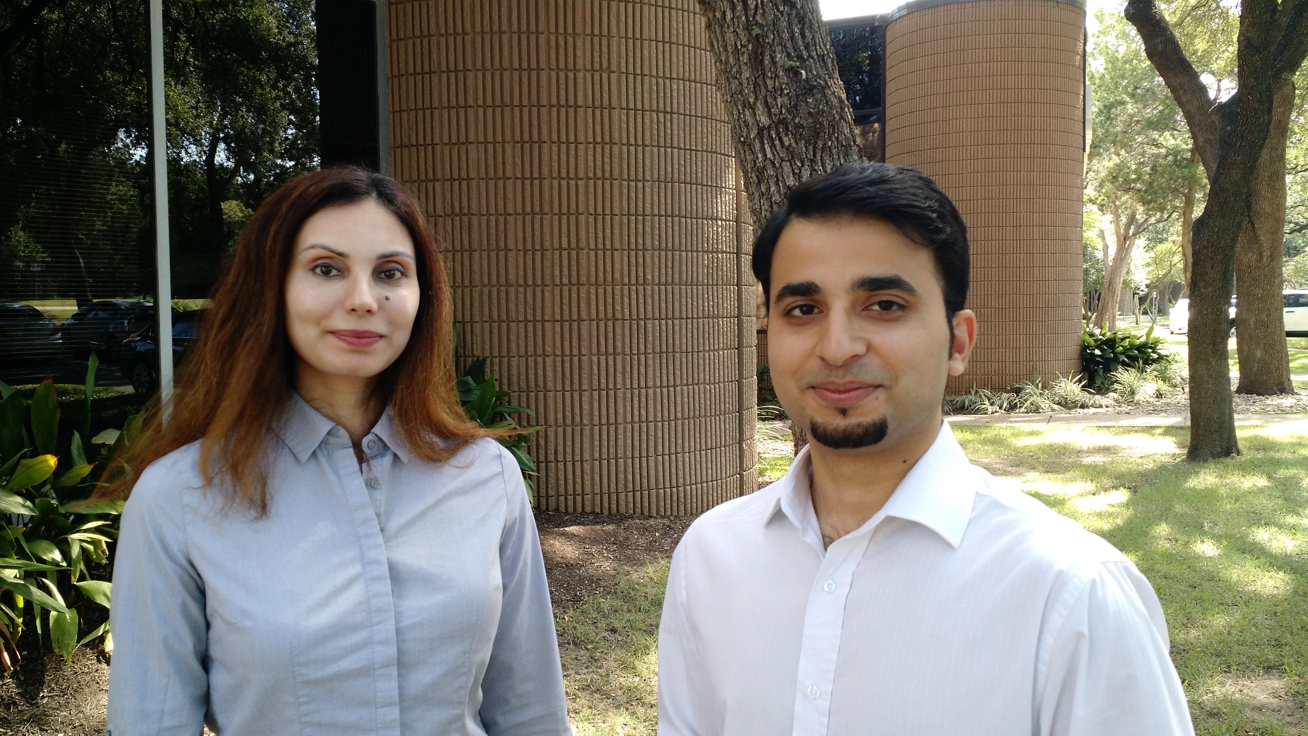 Makerarm's co-founder's  Zaib Husain (right) and Azam Shahani (left).