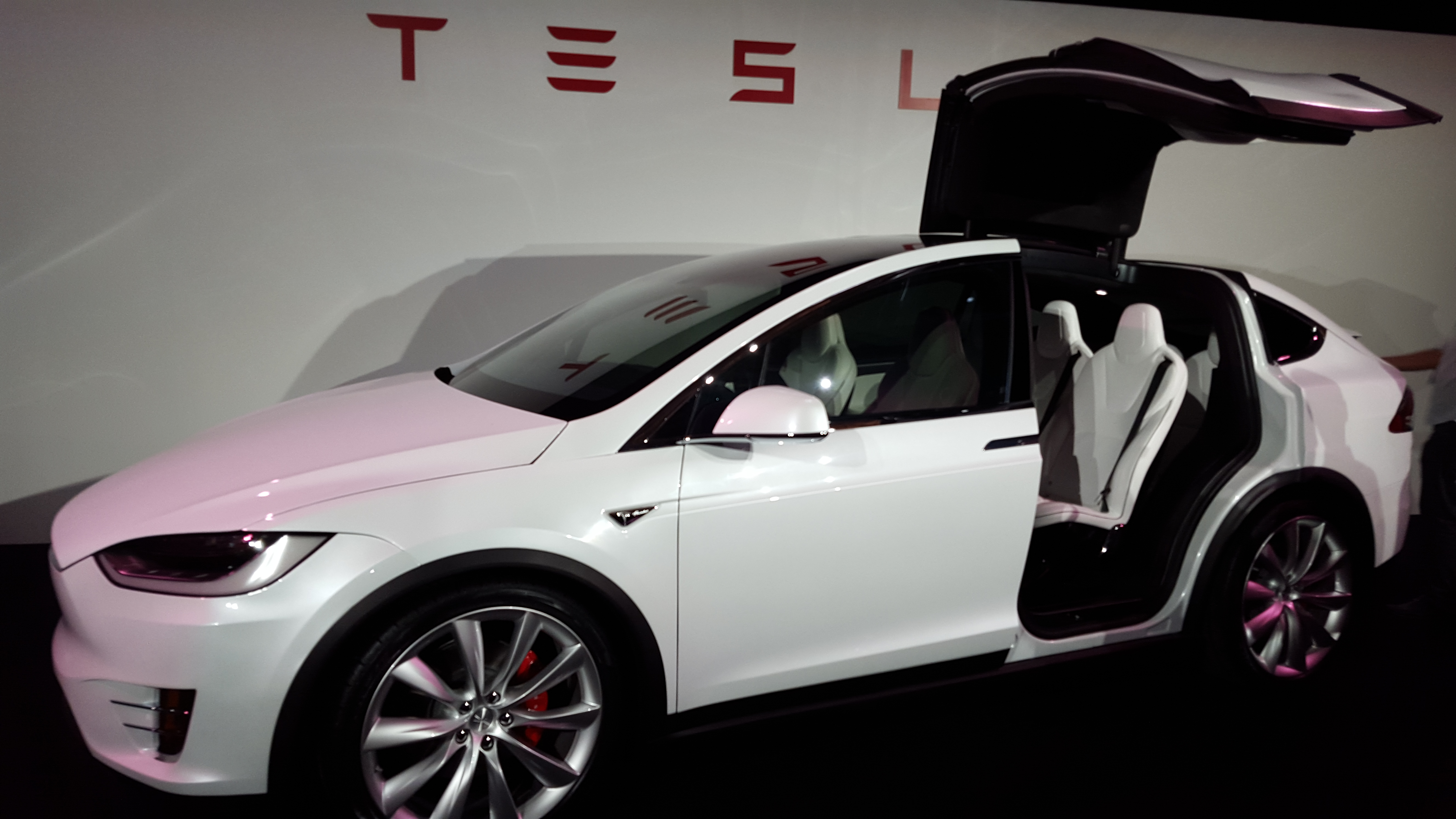 Tesla Motors' highly anticipated Model X was delivered to six customers Tuesday night at the company's Fremont, Calif. factory.