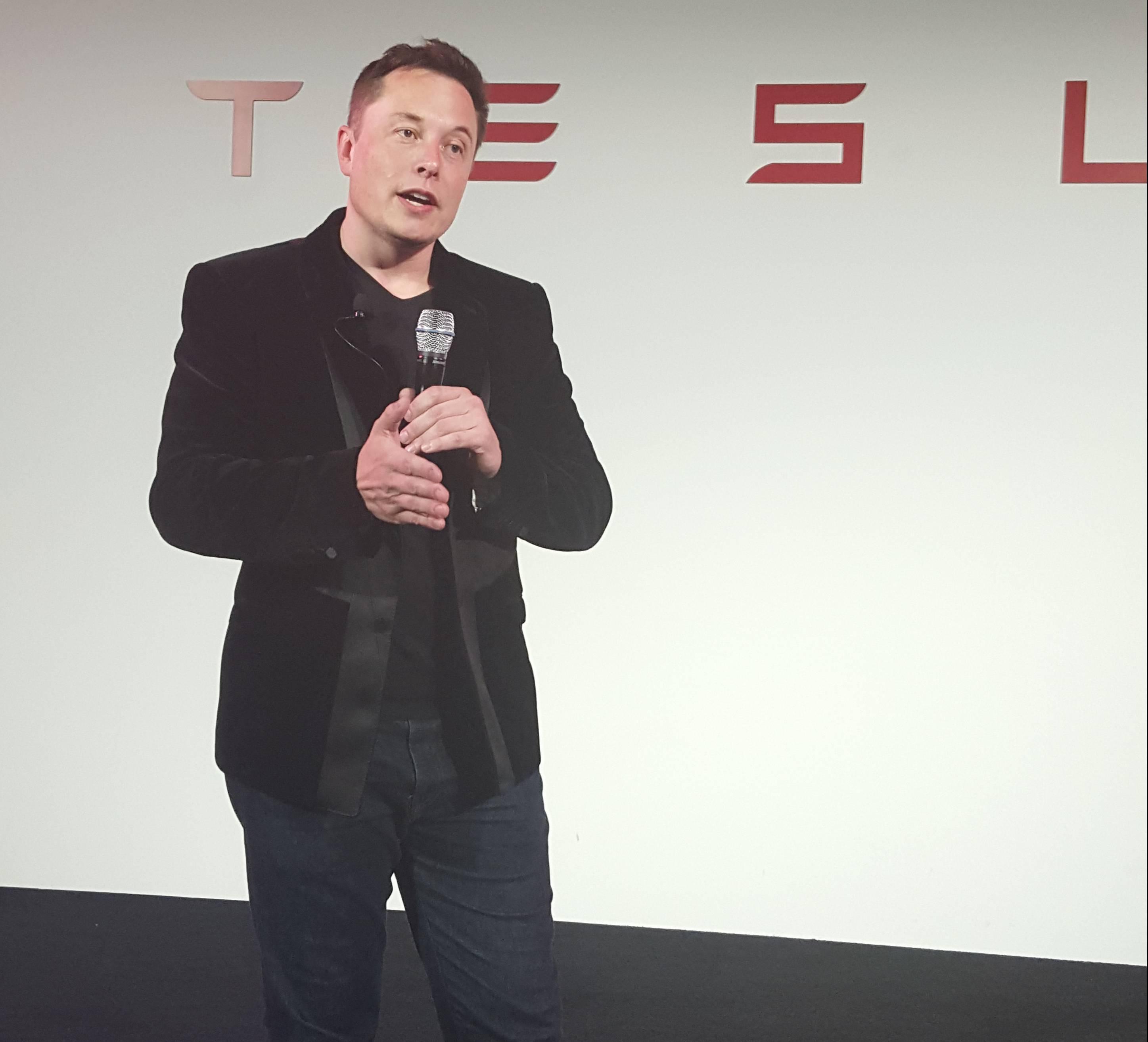 Elon Musk at Tesla' Model X launch on September 29