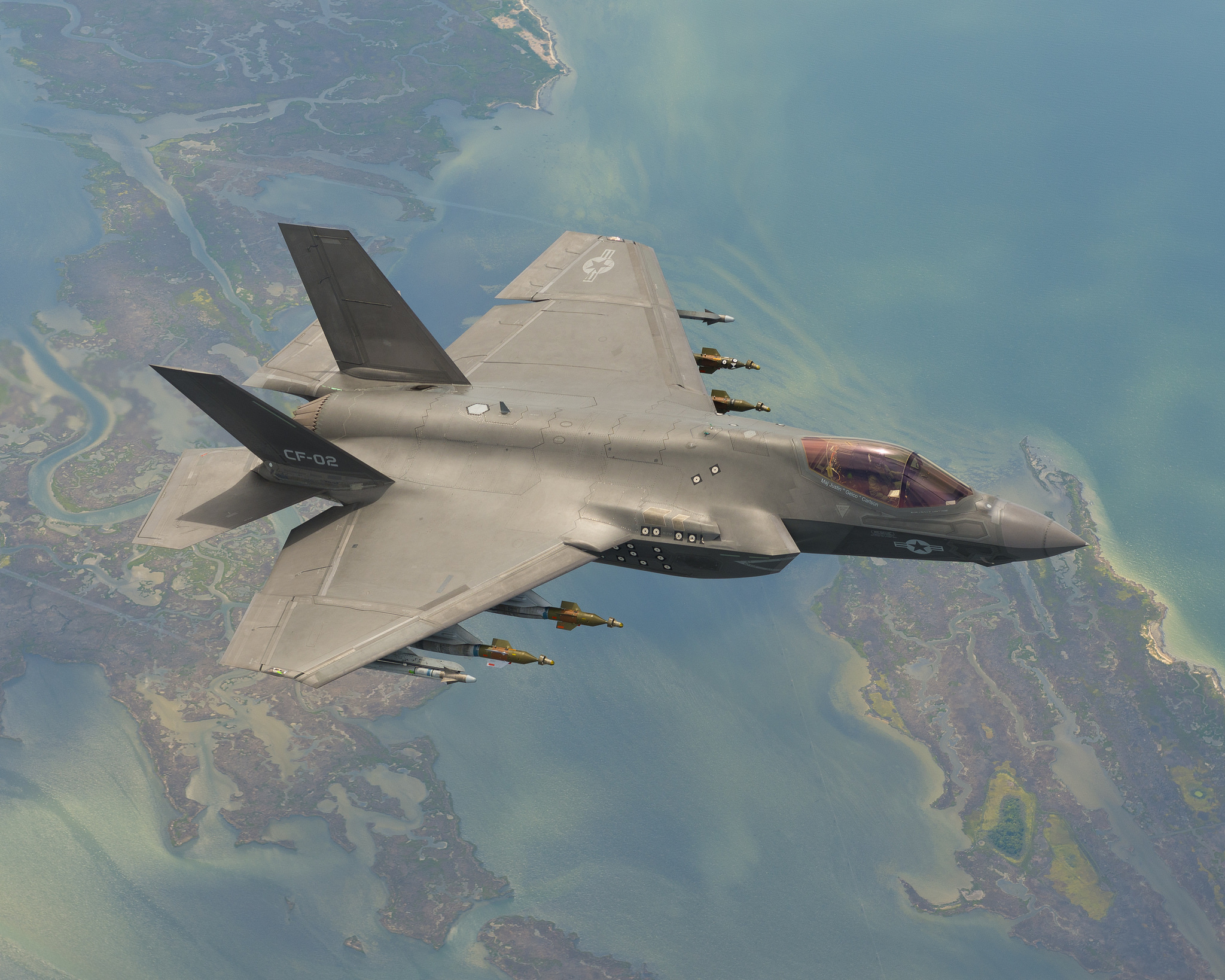 F-35C during weapons testing.