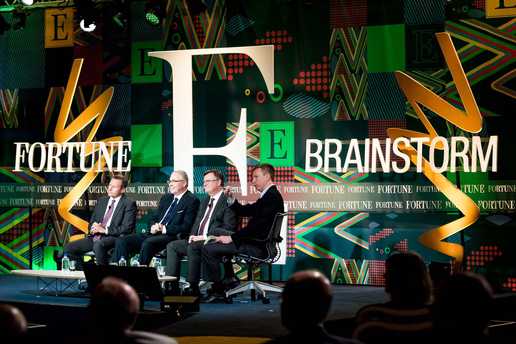Royal Dutch Shell's Jeremy Bentham, McKinsey & Company's Matt Rogers, Encana CEO Doug Suttles, and Fortune's Brian O'Keefe at the 2015 Fortune Brainstorm E conference in Austin, Texas.