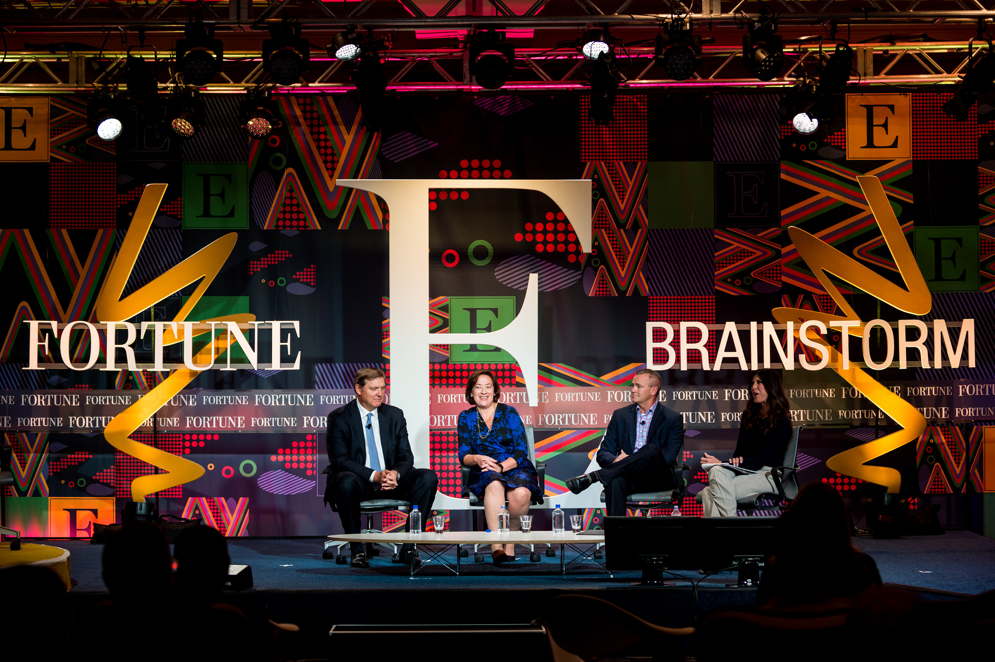 Eric Spiegel of Siemens USA, Diane Regas of Environmental Defense Fund, Jeff Clarke of Dell, and Natalie Allen of CNNi at the 2015 Fortune Brainstorm E conference in Austin, Texas.