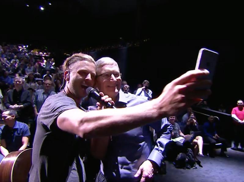Ryan Tedder and Tim Cook