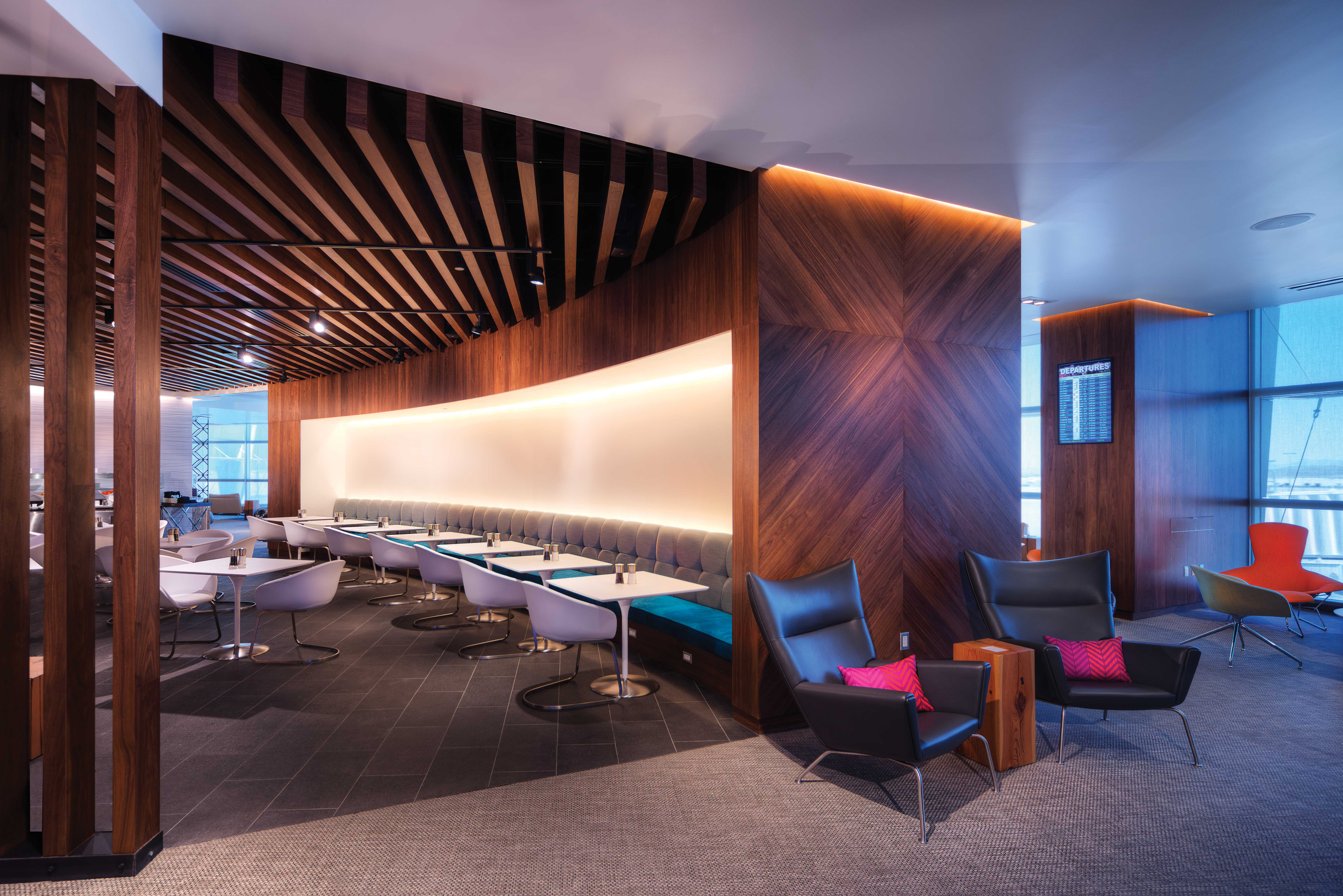 American Express Centurion Lounge Interiors Las Vegas for Big Red Rooster
