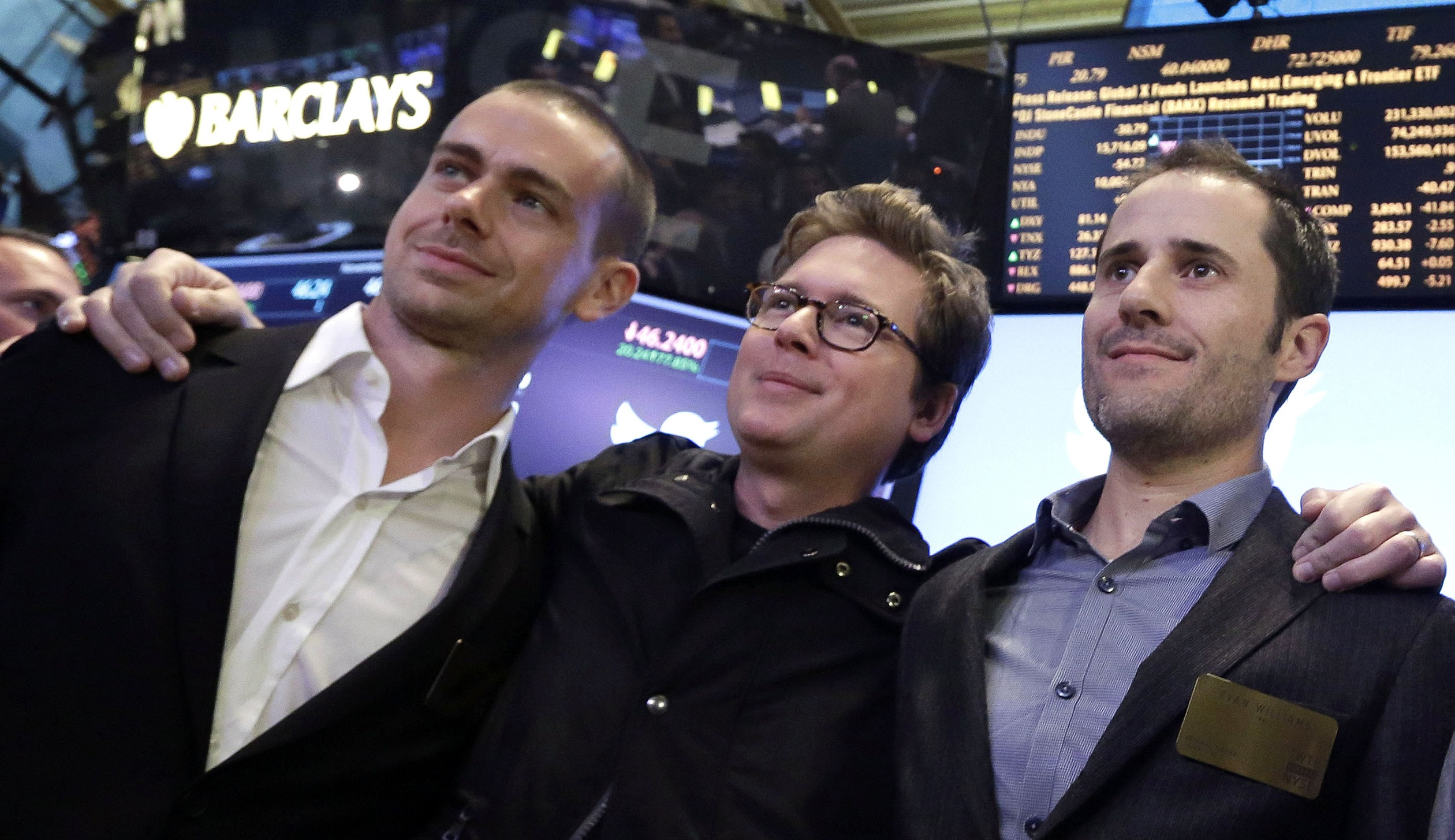 Dick Costolo, Jack Dorsey, Evan Williams, Biz Stone