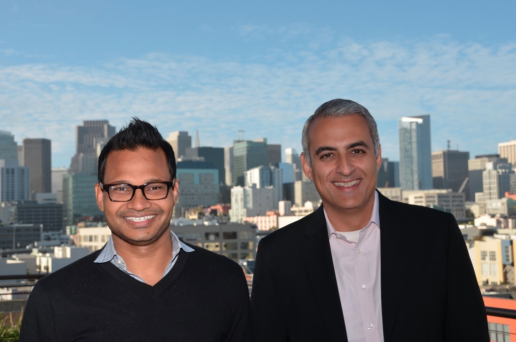 AppDynamics founder Jyoti Bansal (left) and CEO David Wadhwani (right).