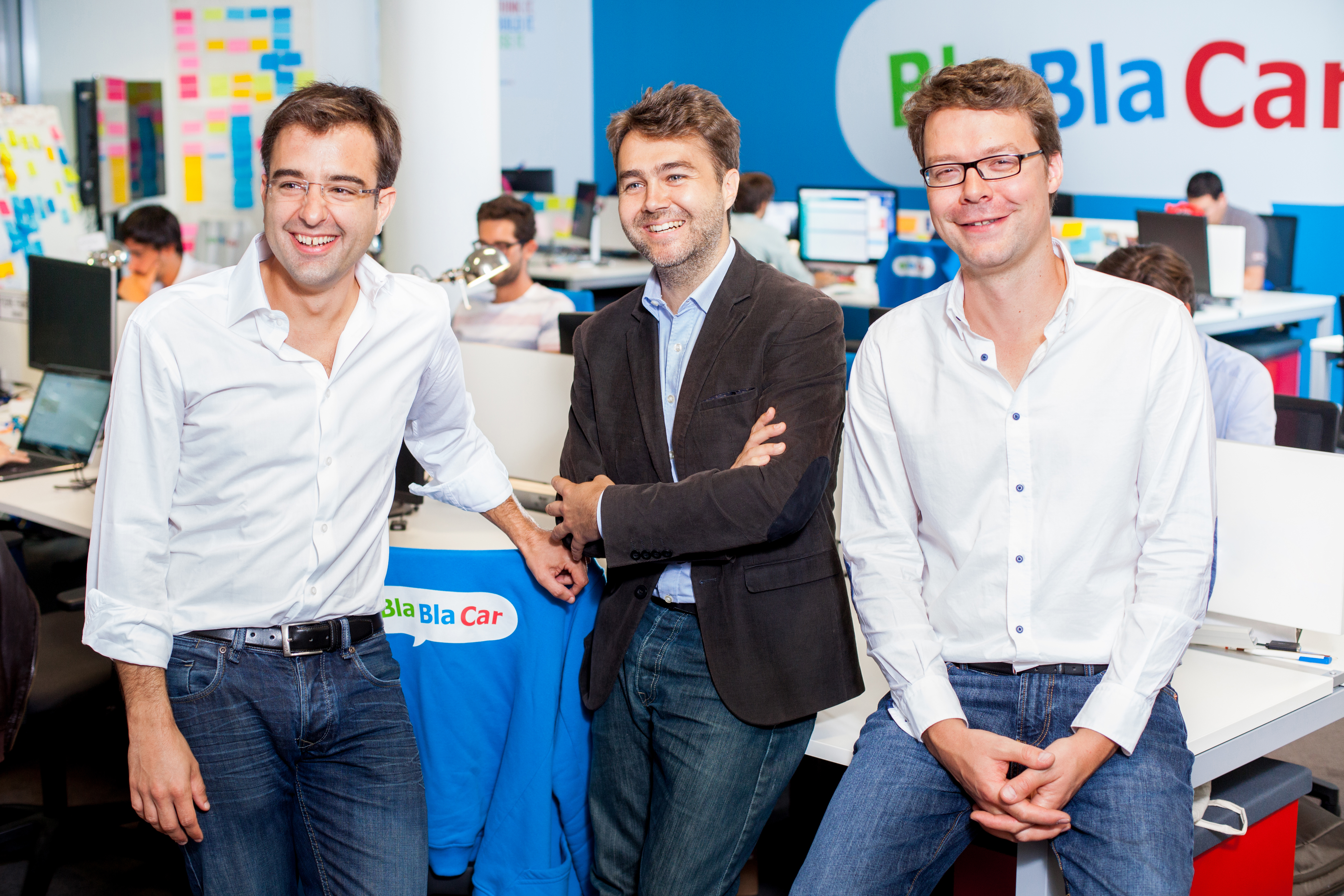 BlaBlaCar co-founders Nicolas Brusson, Frédéric Mazzella, and Francis Nappez are the latest to join Fortune's Unicorn List with a $1.6 billion valuation.