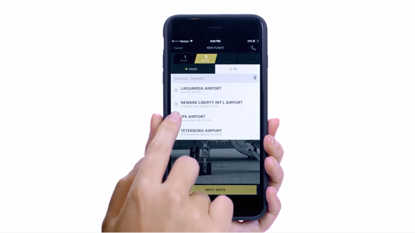 Blade mobile application with hand