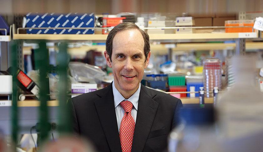 Dr. Druker in lab.
