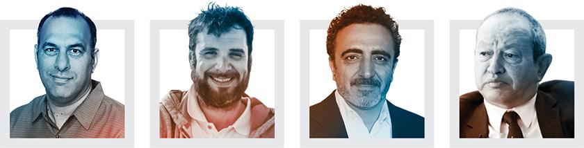 Jason Buzi, Chris Catrambone, Hamdi Ulukaya and Naguib Sawiris