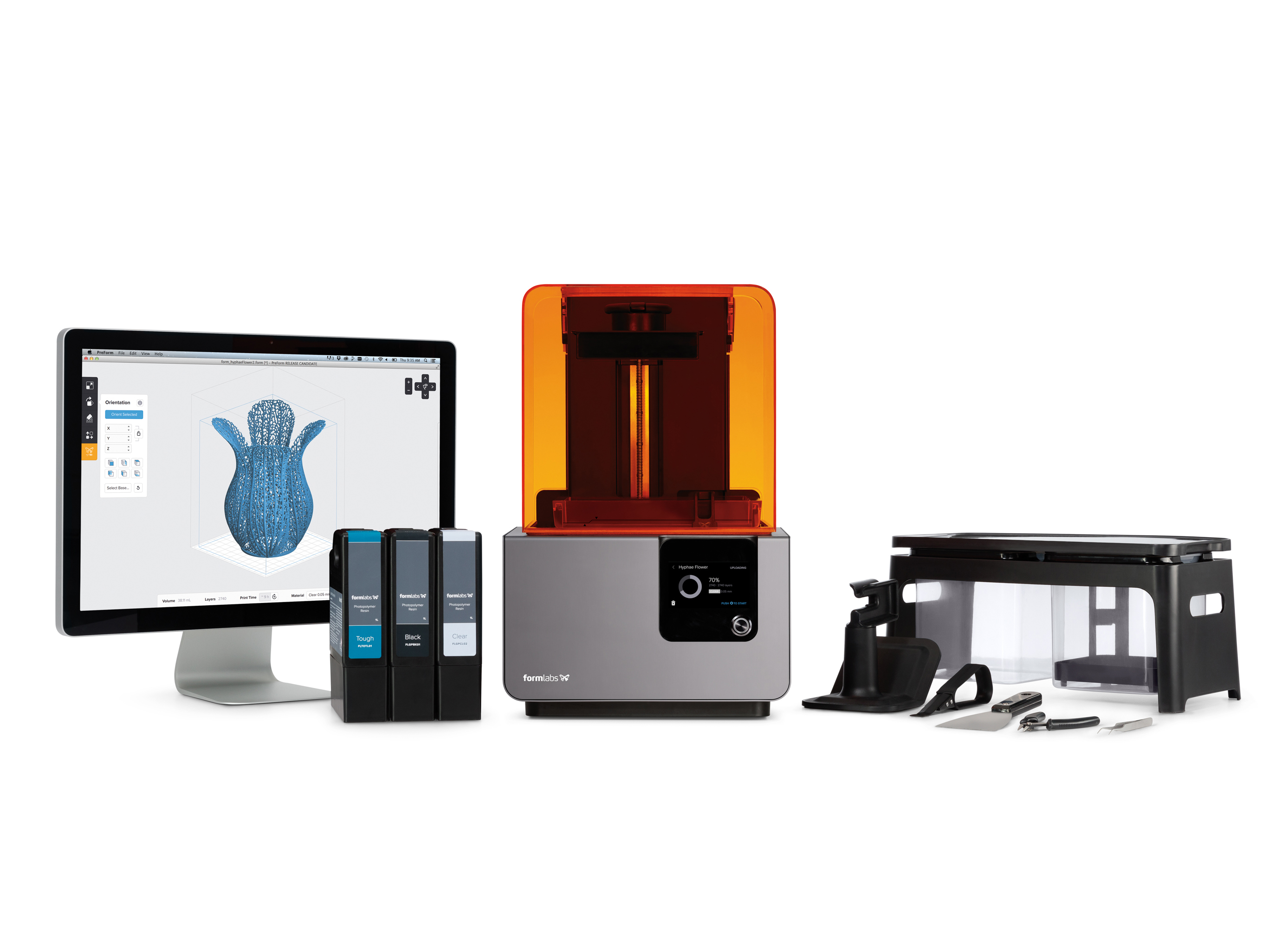 Formlabs' new Form 2 printer is 40% bigger than its previous desktop stereolithography machine.