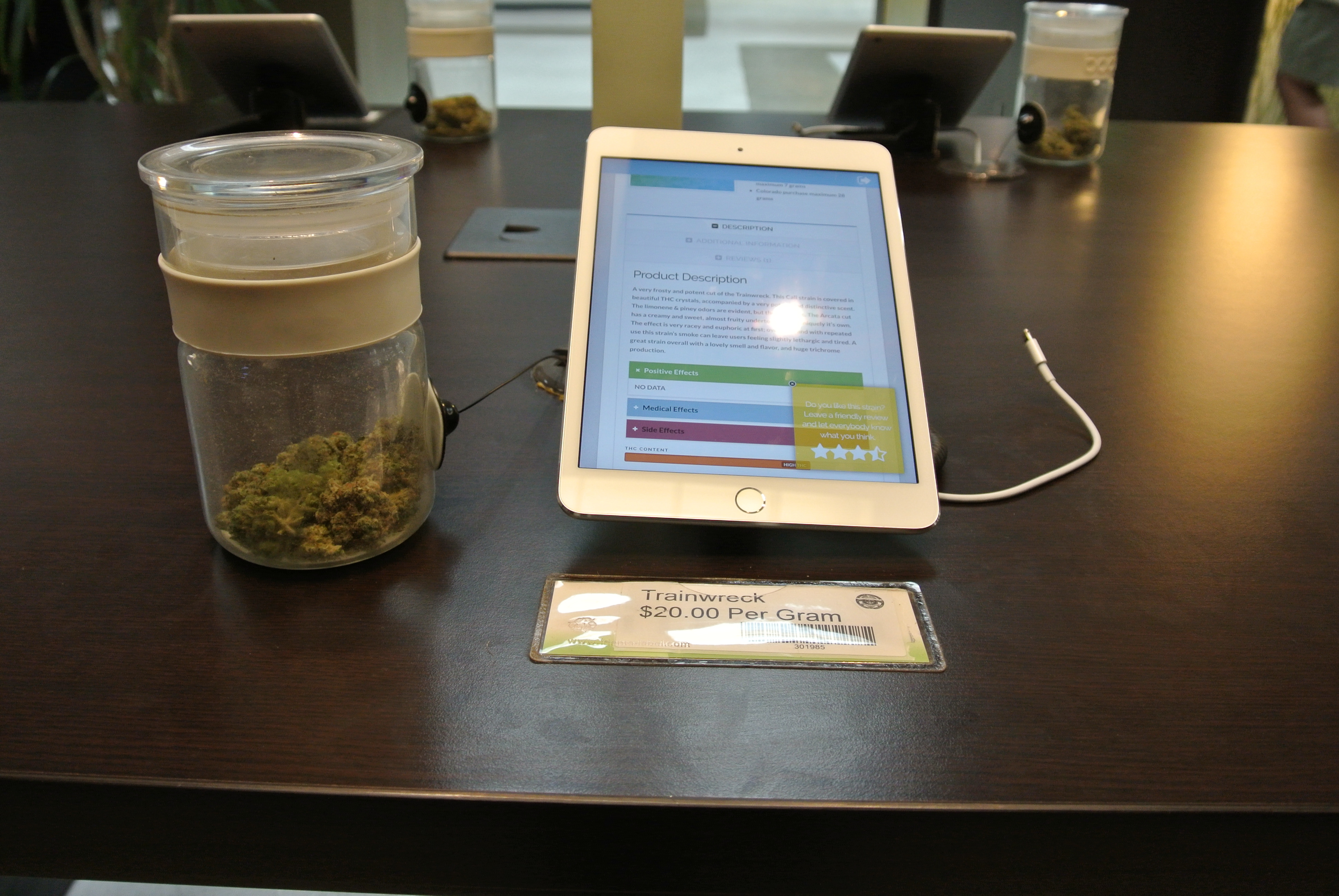 One of the marijuana strains for sale at Euflora, a recreational marijuana store.