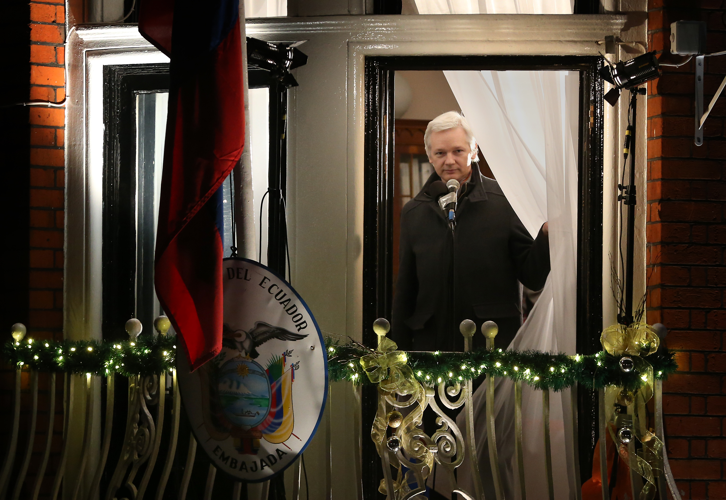 Wikileaks Founder Julian Assange Makes A Statement After Six Months Residing At The Ecuadorian Embassy