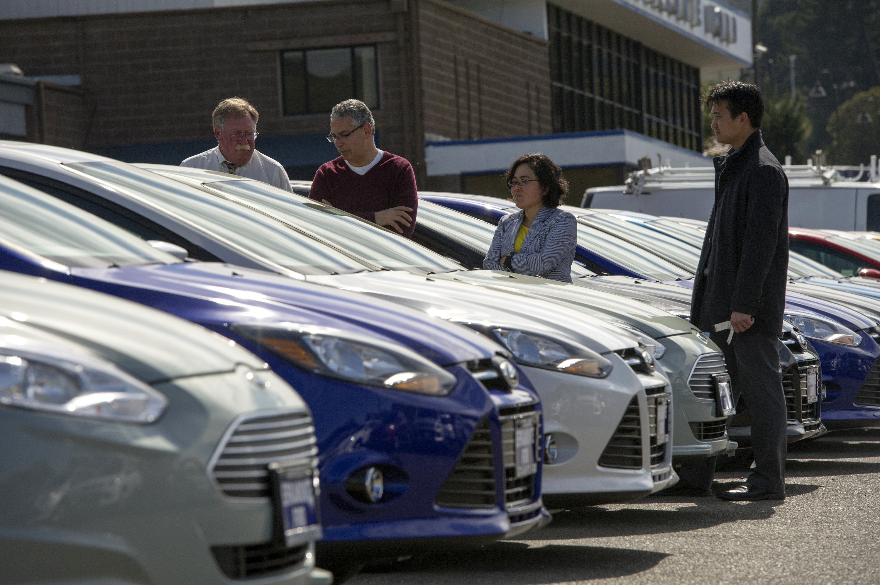 Views Of A Ford Dealership Ahead Of Domestic Auto Sales Data