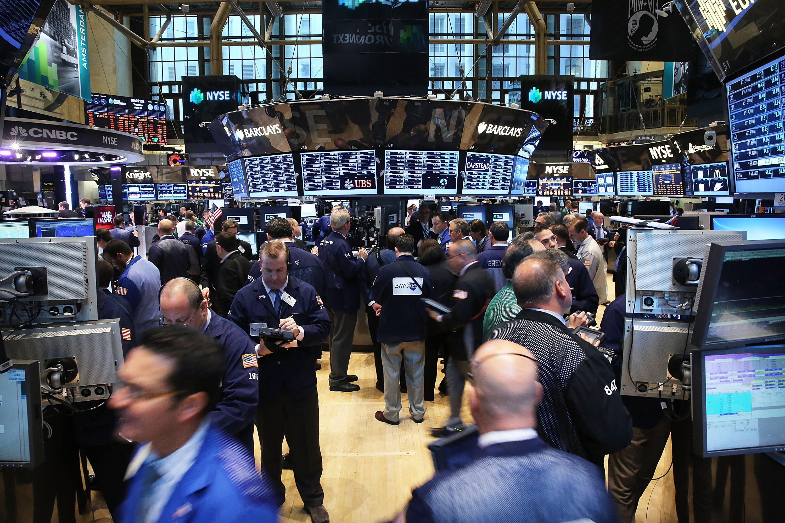 Trading Begins On The Floor Of The New York Stock Exchange