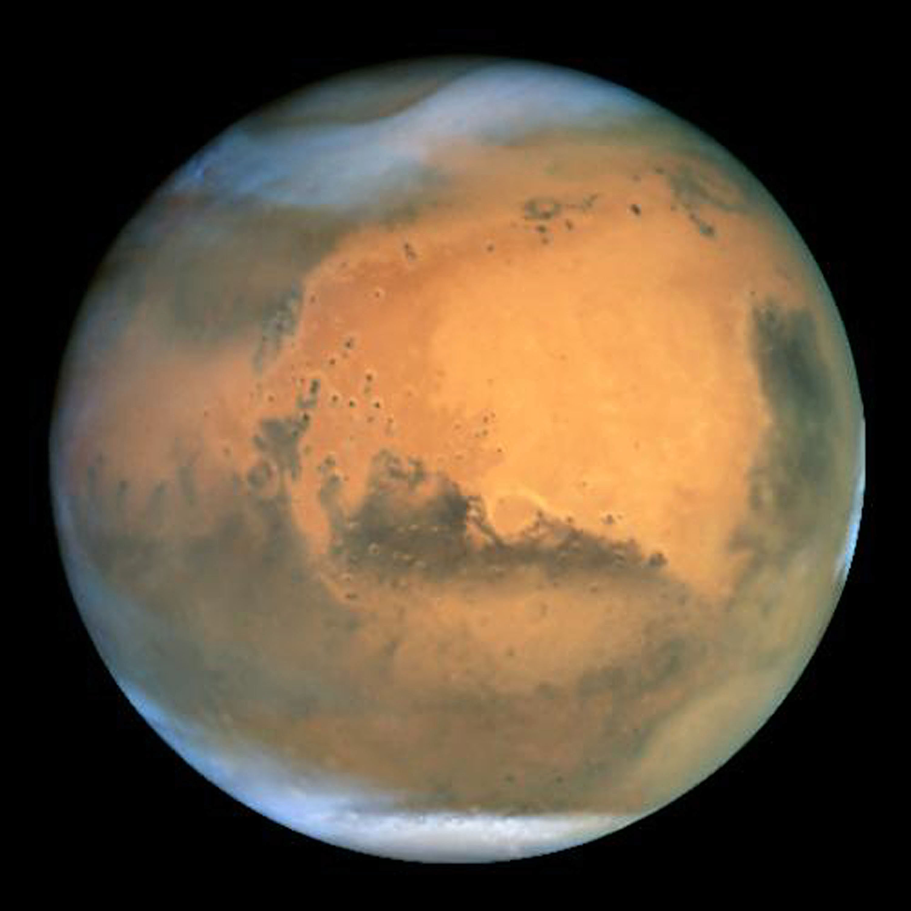 NASA's Earth-orbiting Hubble Space Telescope took this picture of Mars.