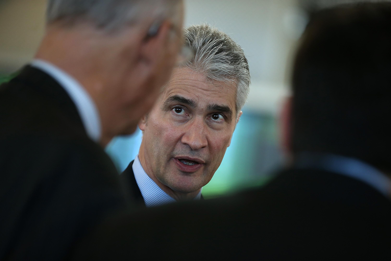 United CEO Jeff Smisek Inaugurates New Terminal At SFO