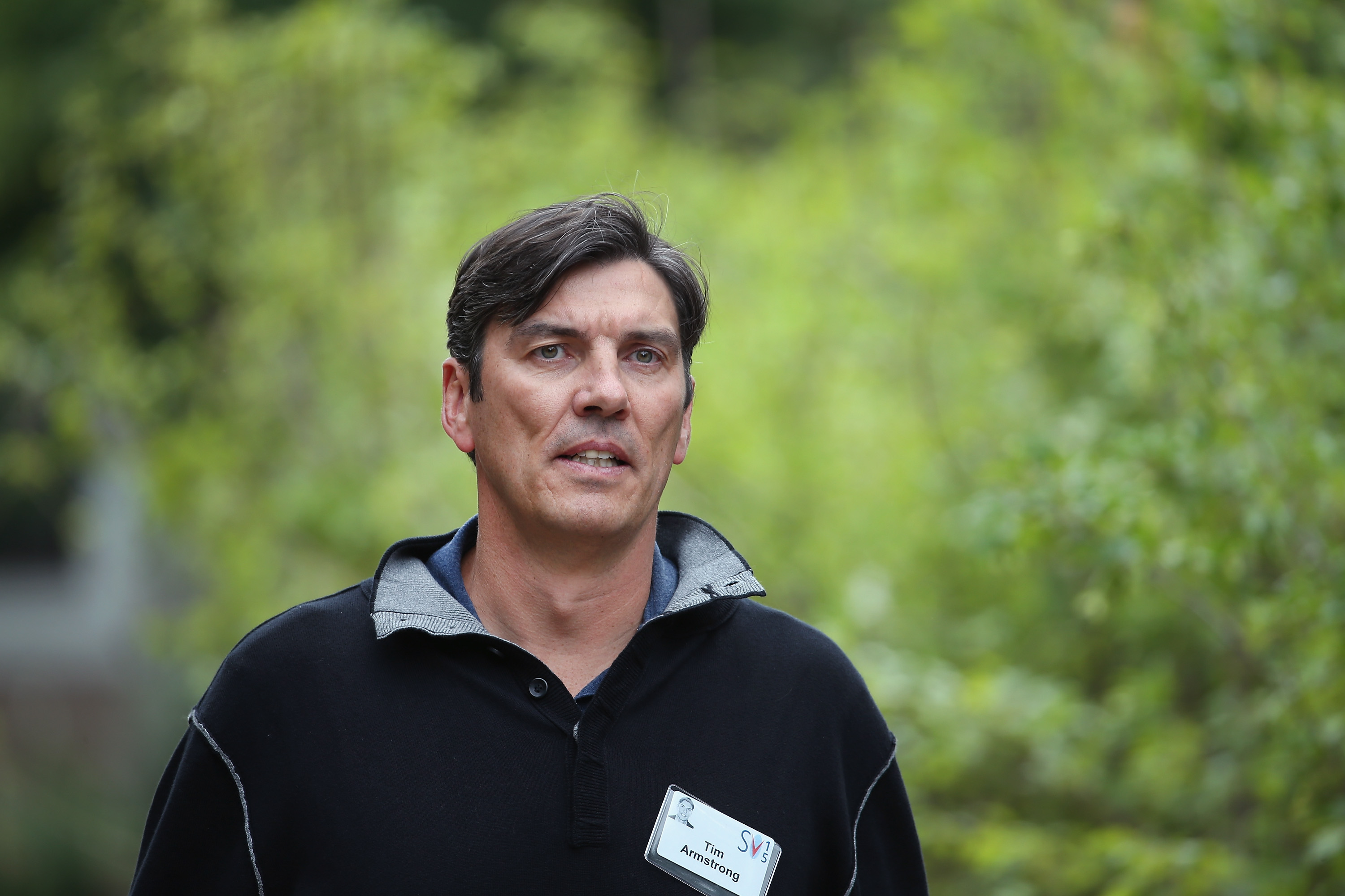 AOL CEO Tim Armstrong in Sun Valley, Idaho in July 2015.