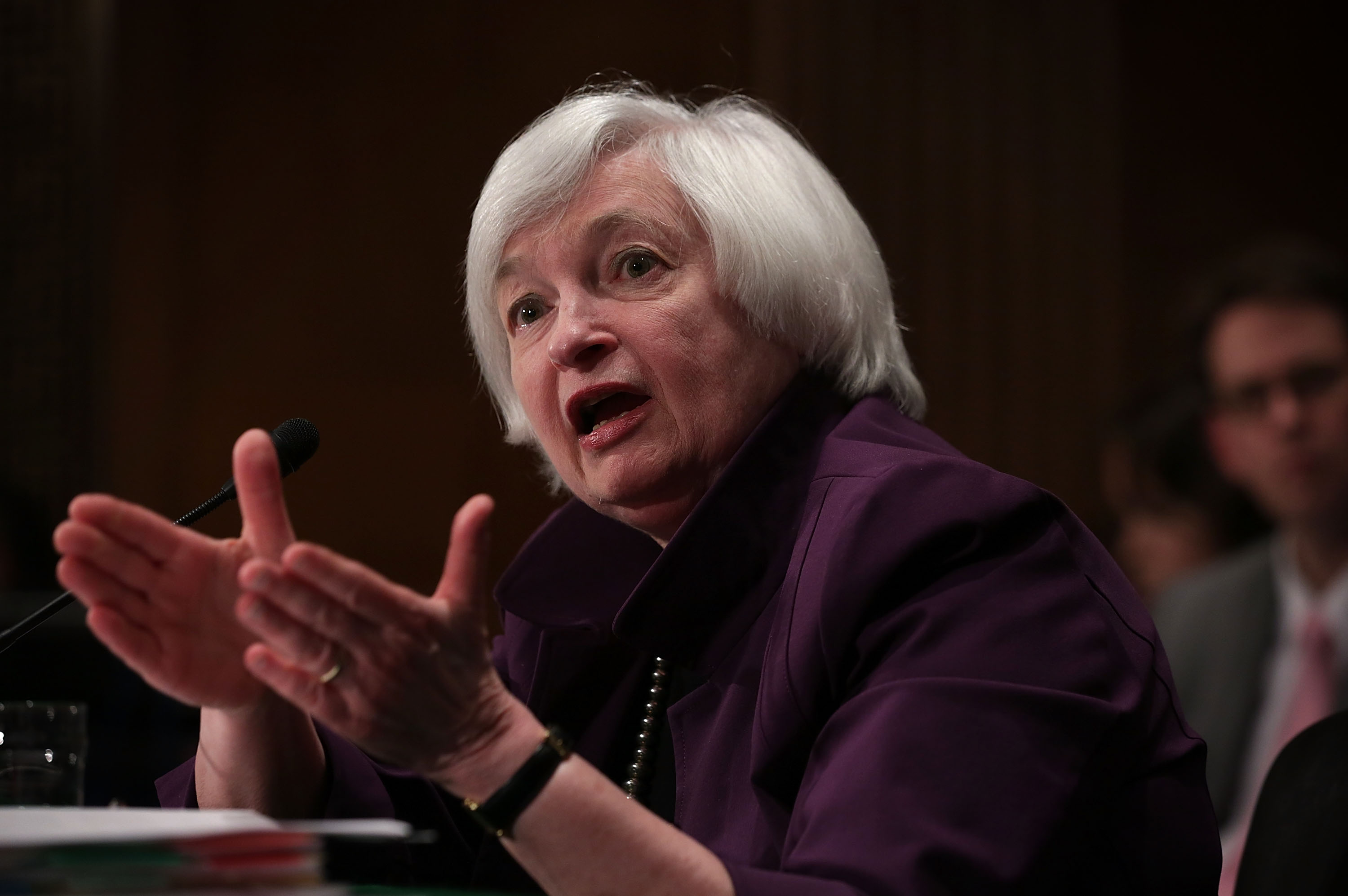Janet Yellen Presents Semiannual Monetary Policy Report At Senate Hearing