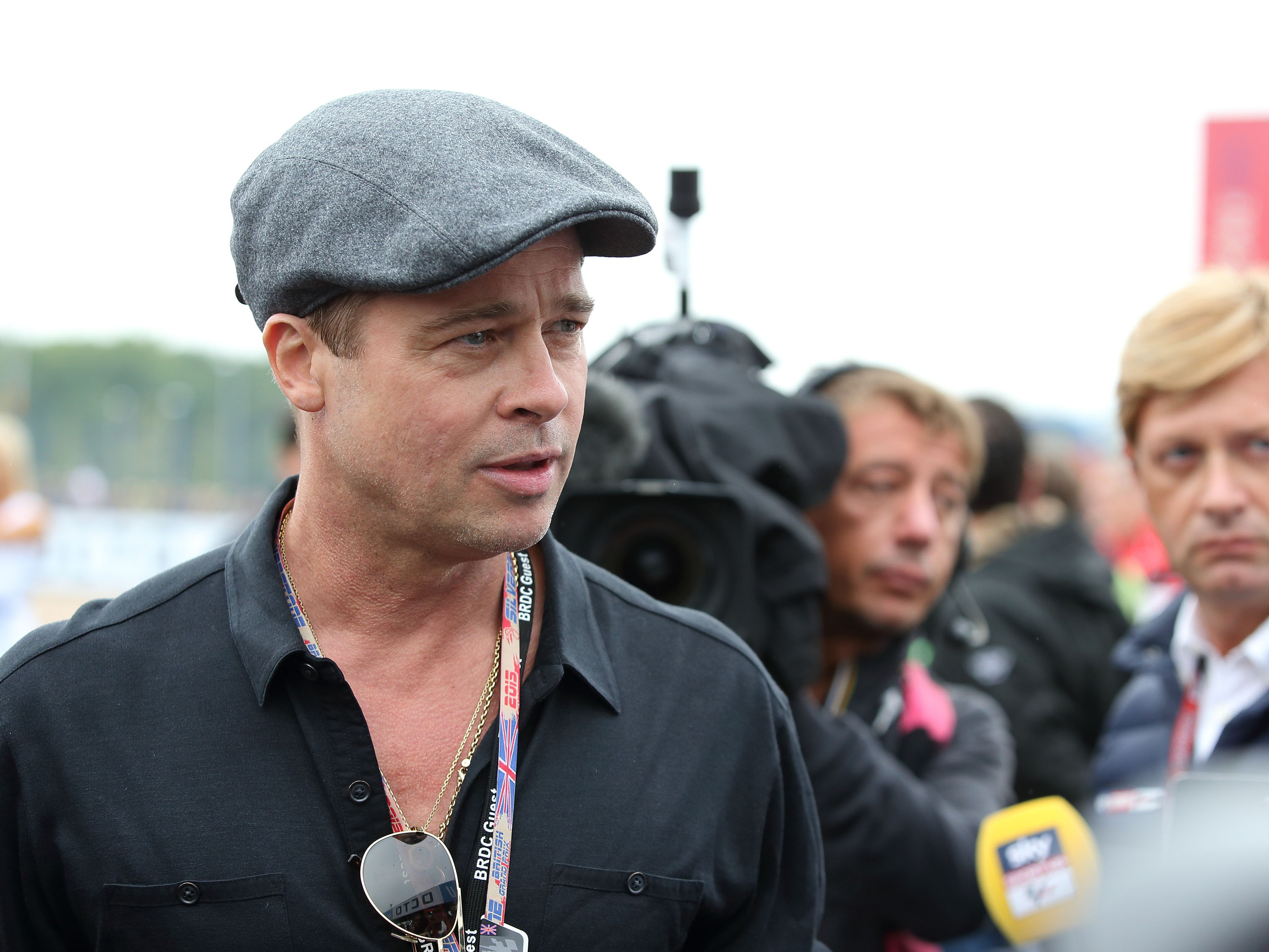 "Brad Pitt Attends The MotoGP British Grand Prix Race At Silverstone Ahead Of The Release Of The Documentary ""Hitting The Apex"""