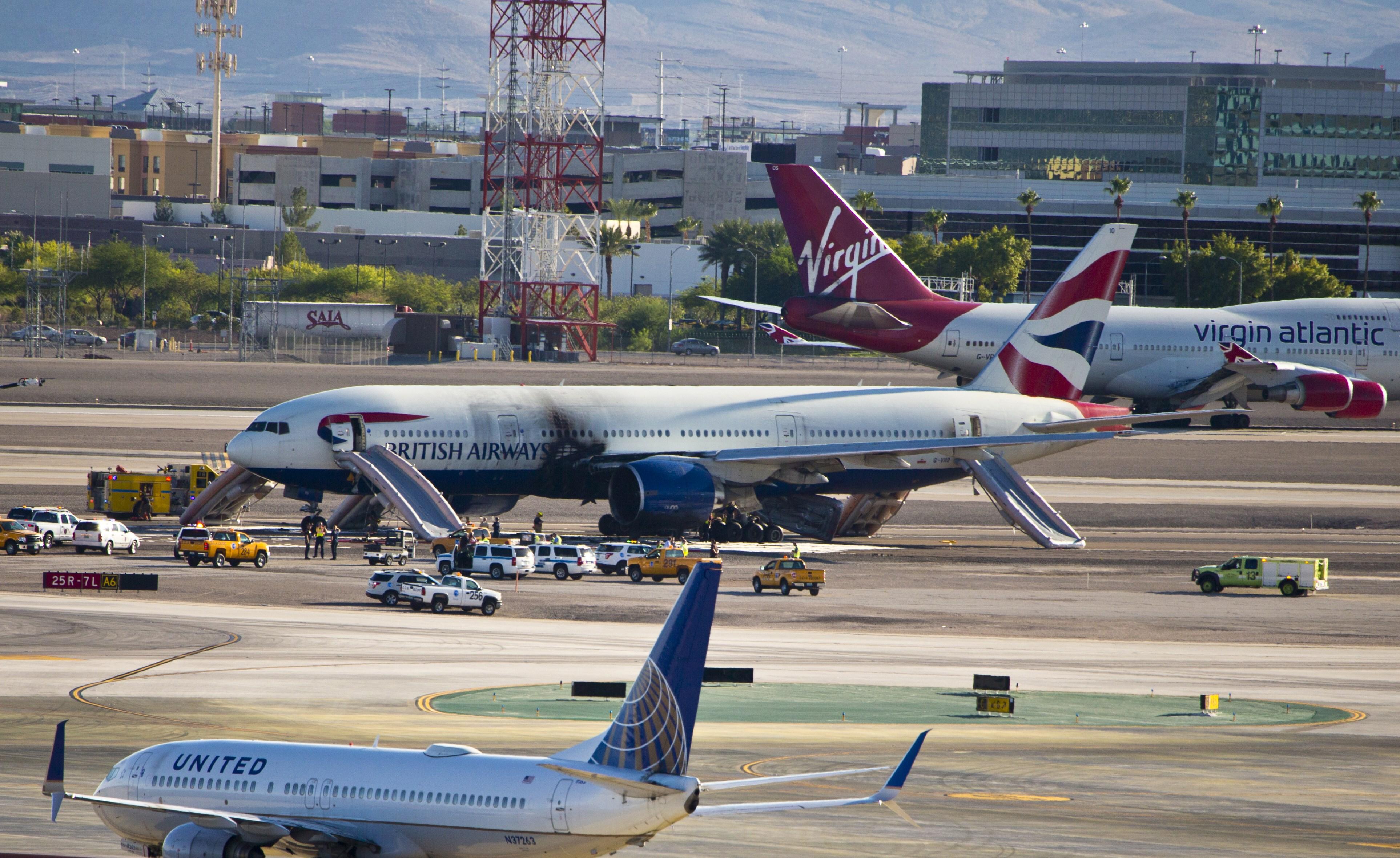 US-BRITISH AIRWAYS-PLANE-ACCIDENT-FIRE