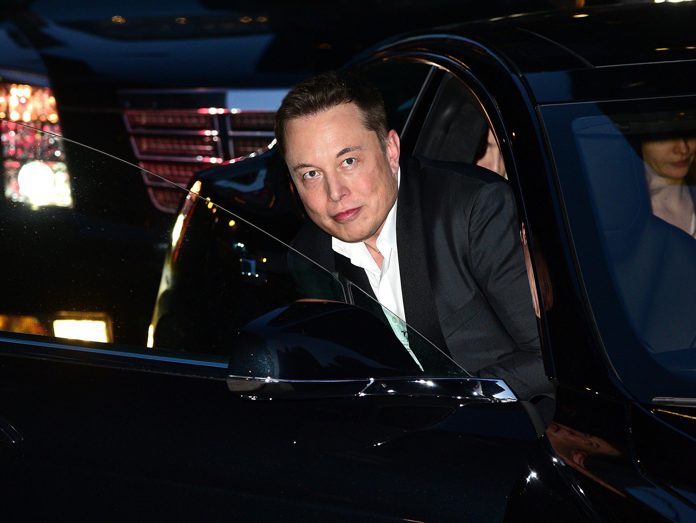 Elon Musk at Ed Sullivan Theater on September 9, 2015 in New York City.