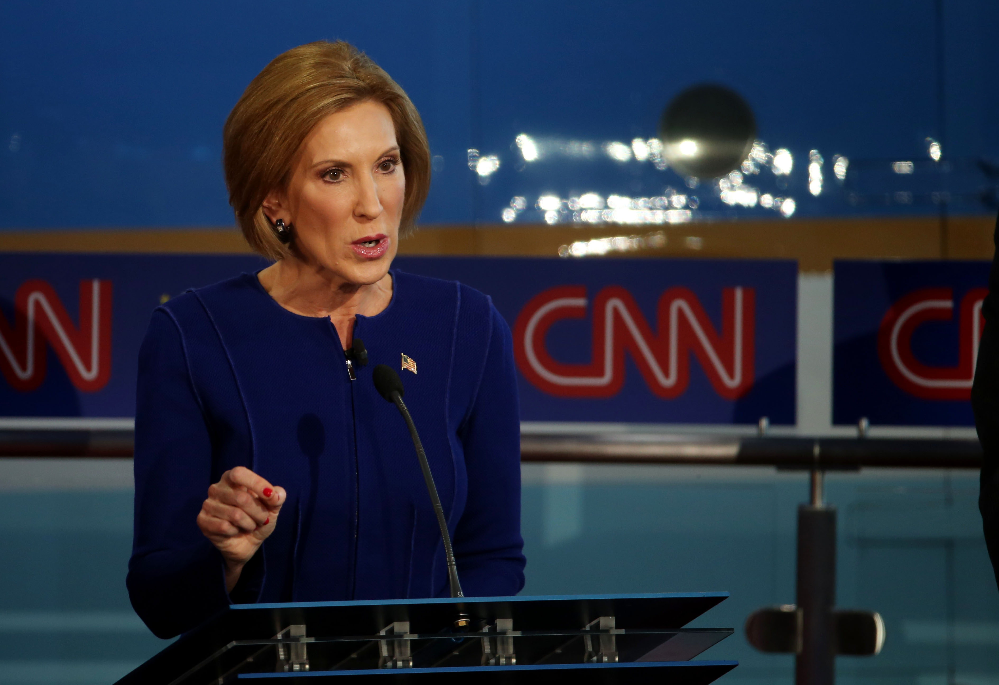 Carly Fiorina at the second GOP debate