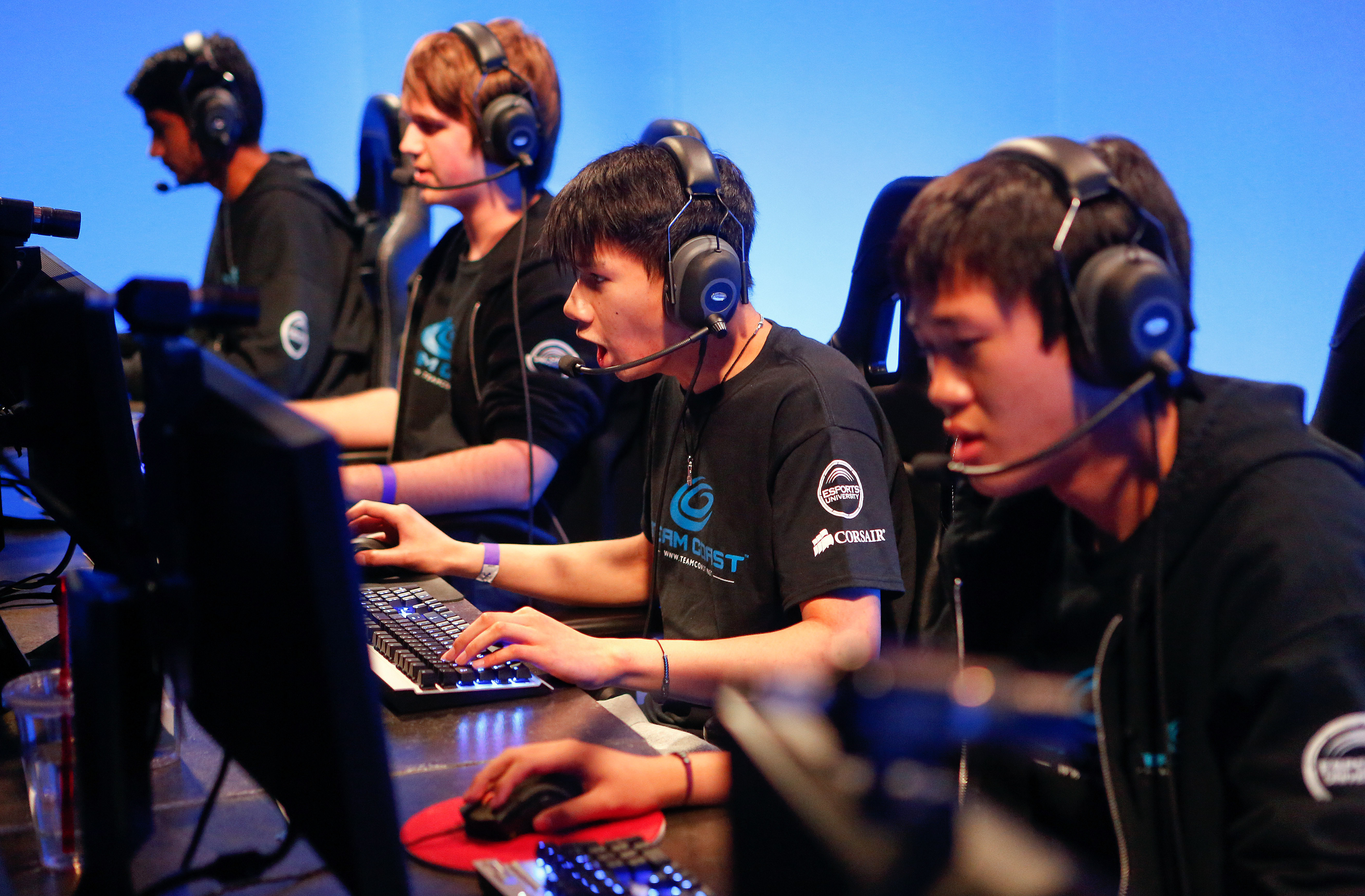 left to right-Darshan (ZionSpartan) Upadhyaya, Josh (NintendudeX) Atkins, Danny (Shiphtur) Le, and