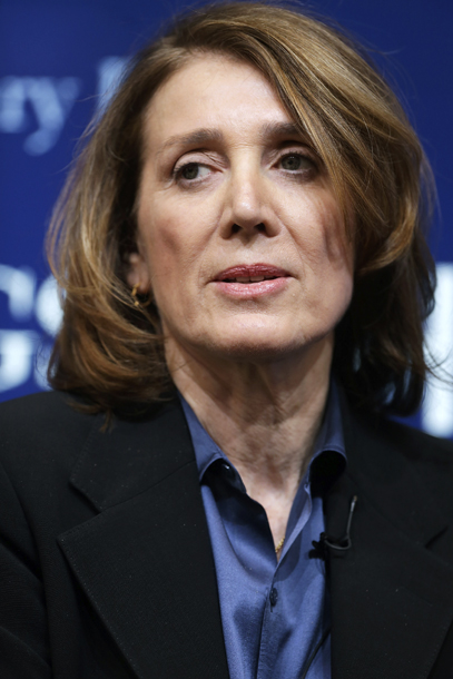 """WASHINGTON, DC - MARCH 02: Morgan Stanley Chief Financial Officer and Executive Vice President Ruth Porat participates in a panel discussion at the Brookings Institution March 2, 2015 in Washington, DC. The institution hosted a series of lectures and discussions as party of a program called """"The Fed in the 21st century: Independence, governance, and accountability."""" (Photo by Chip Somodevilla/Getty Images)"""