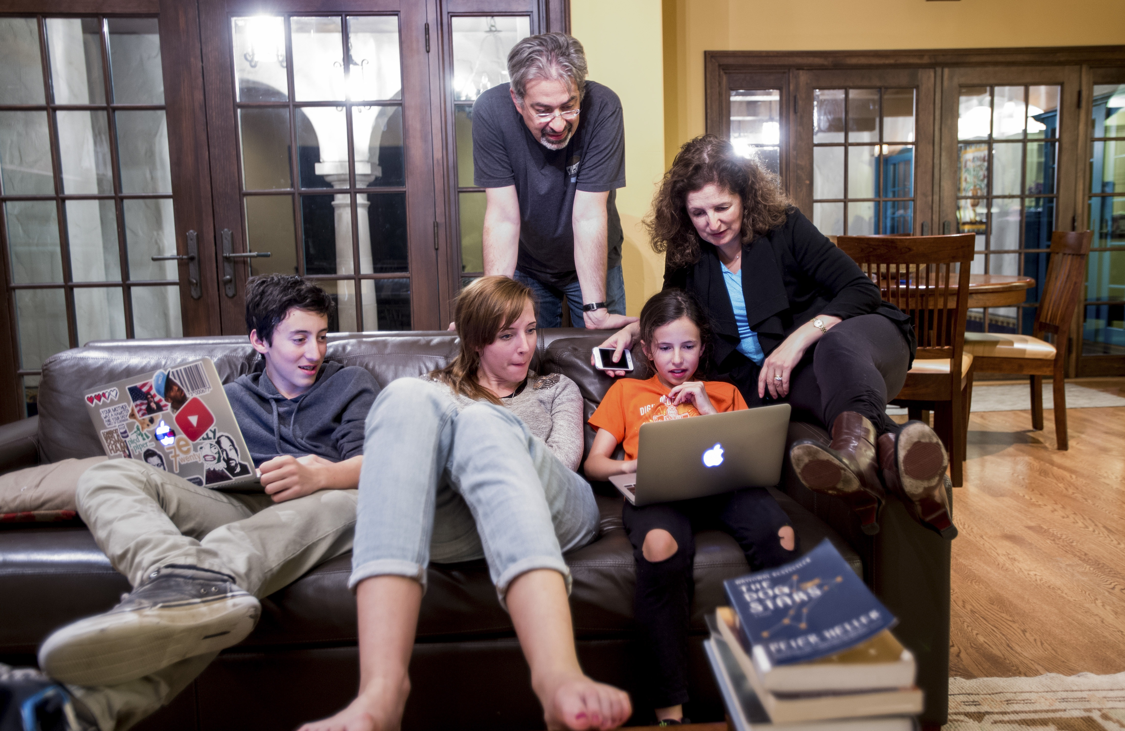 Max Schireson, the former chief executive of MongoDB who stepped down to spend more time with his children, at home in Stanford, Calif.