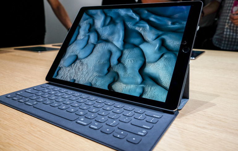 Apple's new iPad Pro on display at the Sept. 9 special event.