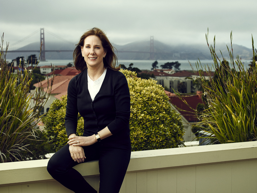 Kathleen Kennedy photographed at Lucasfilm in San Francisco, July 2015.