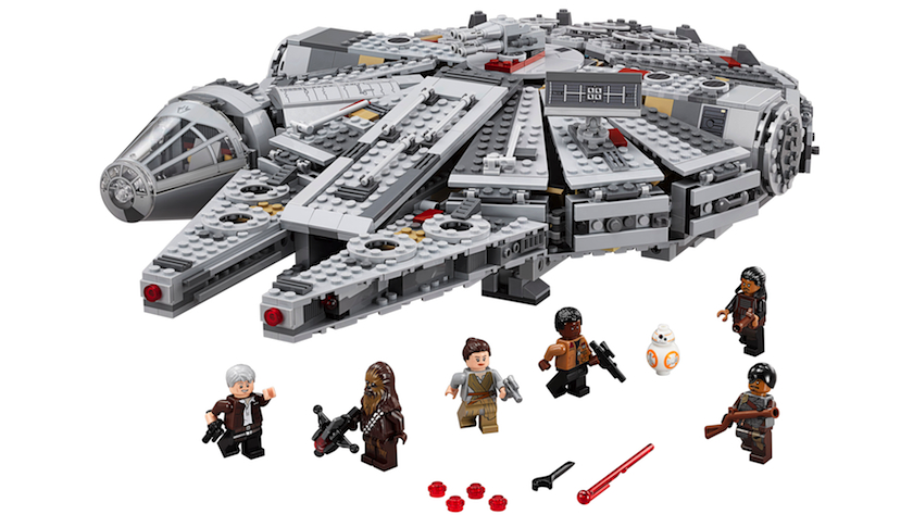 A Millennium Falcon Lego set tied to the new Star Wars film, 'The Force Awakens.'