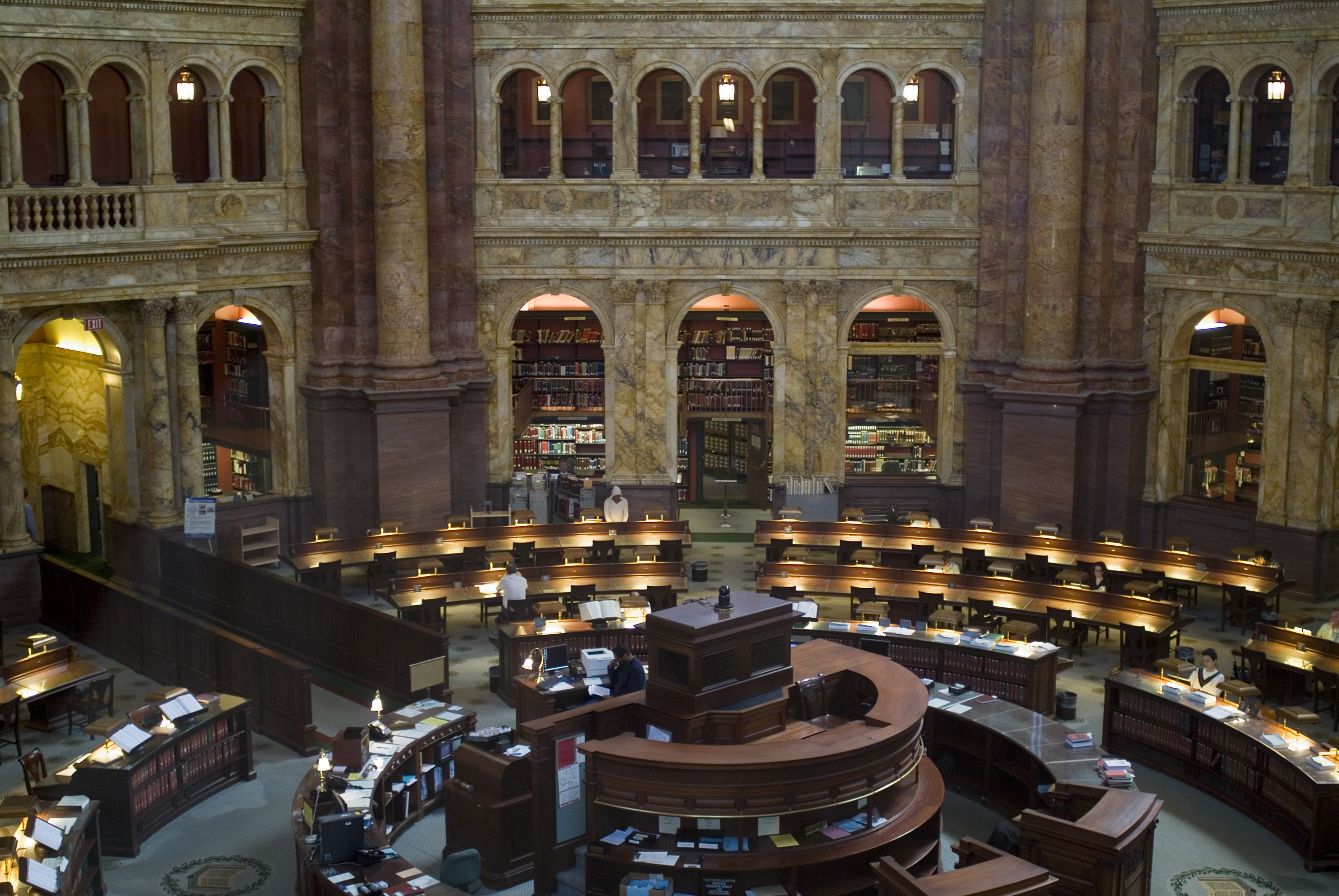 Main Reading Room at the Library of Congress