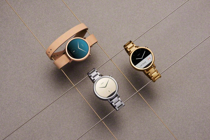 All three Android Wear devices featured in this photo were designed specifically for women.