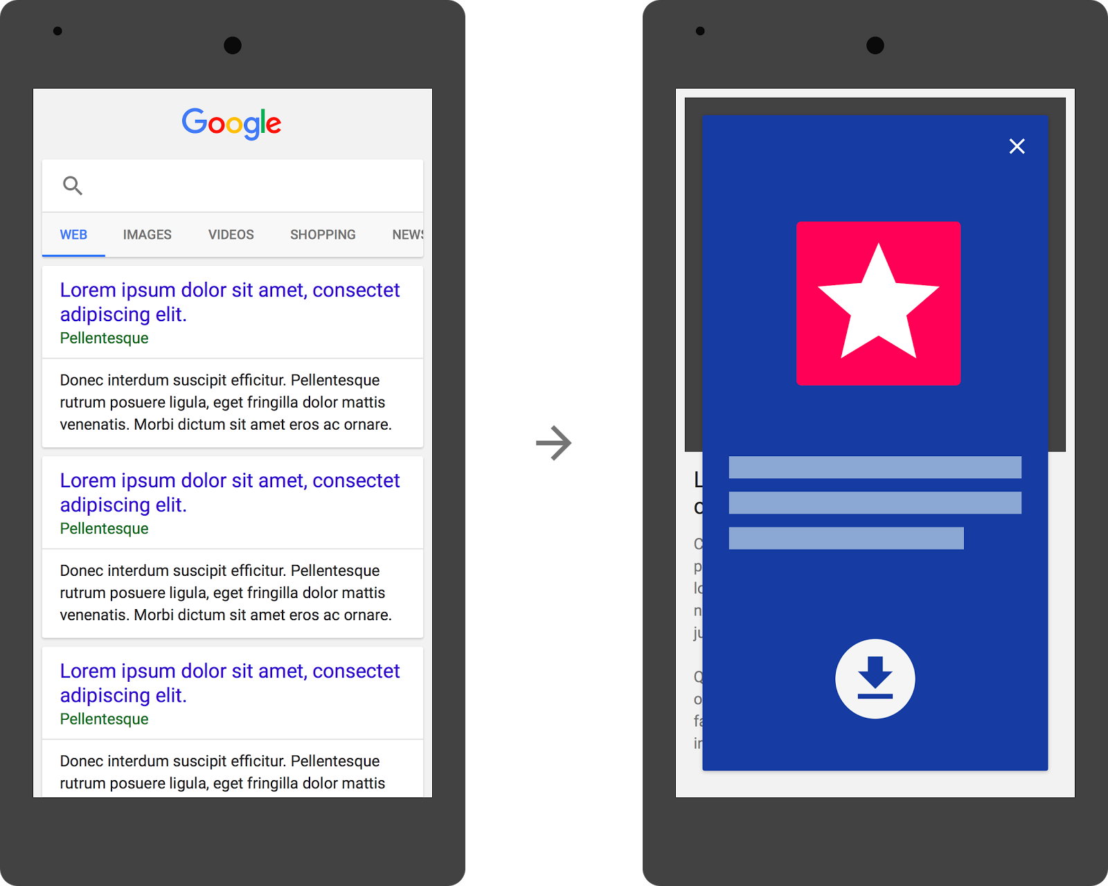 Google could be downranking sites that feature app install ads that block a significant portion of content from users.