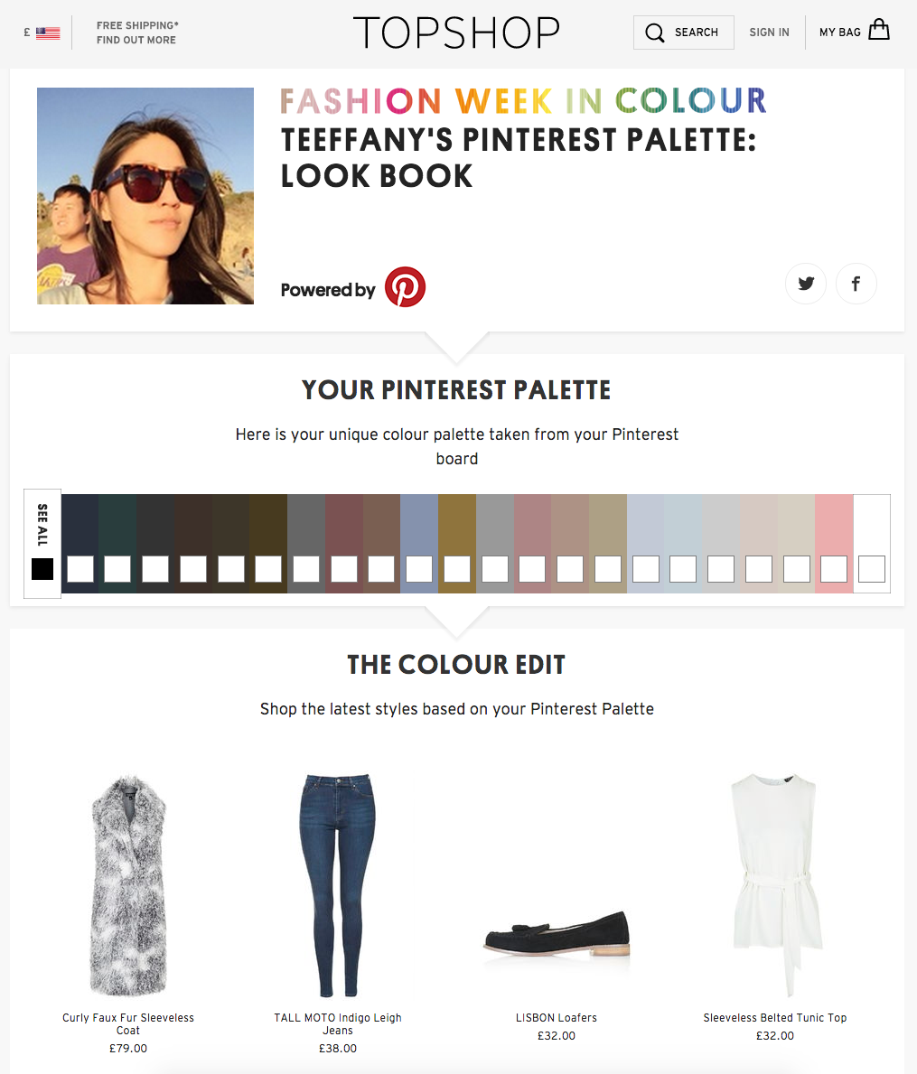 Pinterest serves up personalized clothing recommendations on